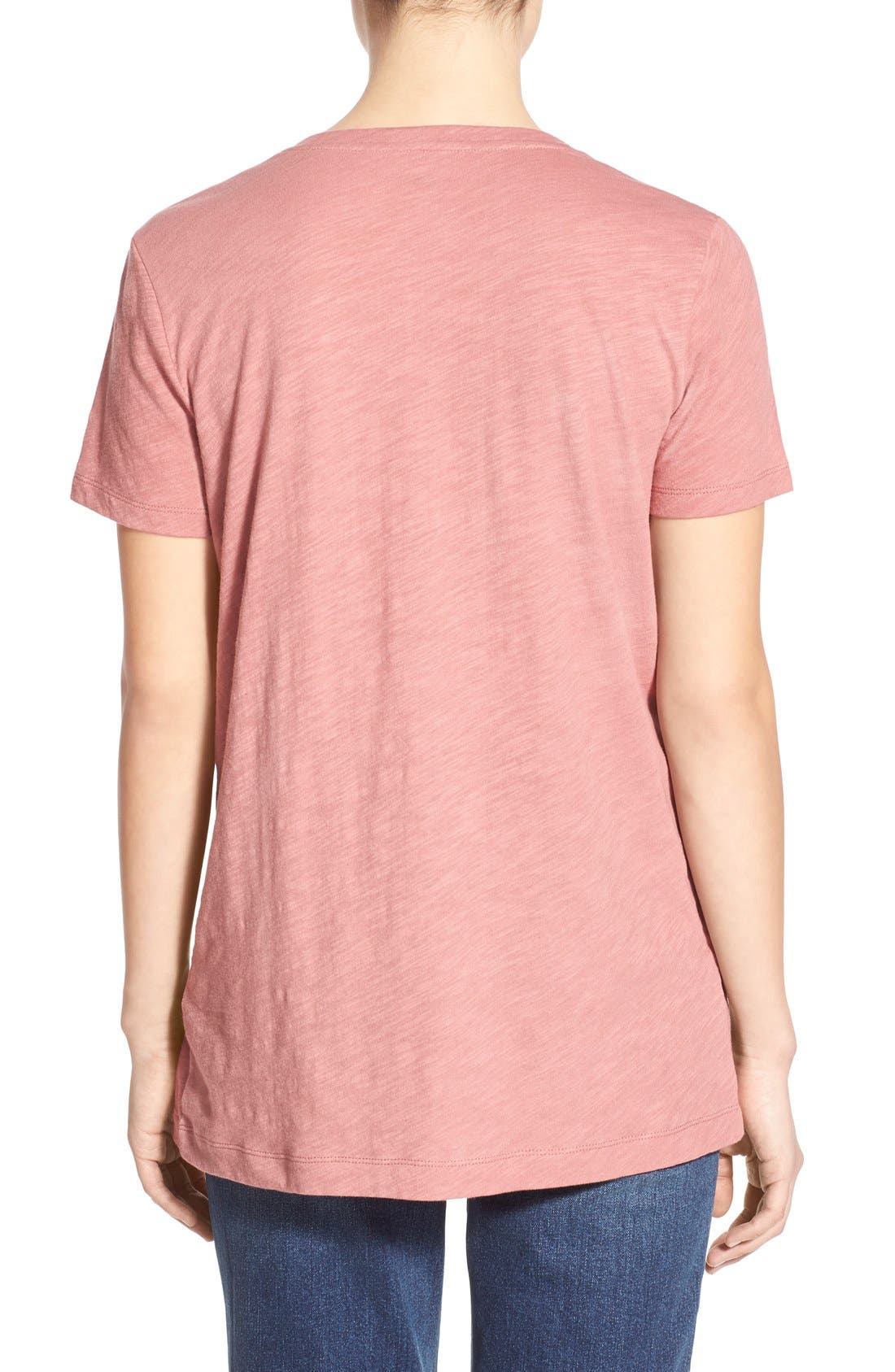Whisper Cotton V-Neck Pocket Tee,                             Alternate thumbnail 198, color,