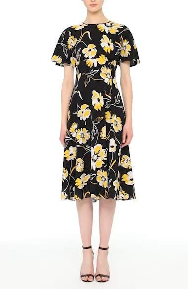 Floral Print Silk Flirt Dress, video thumbnail