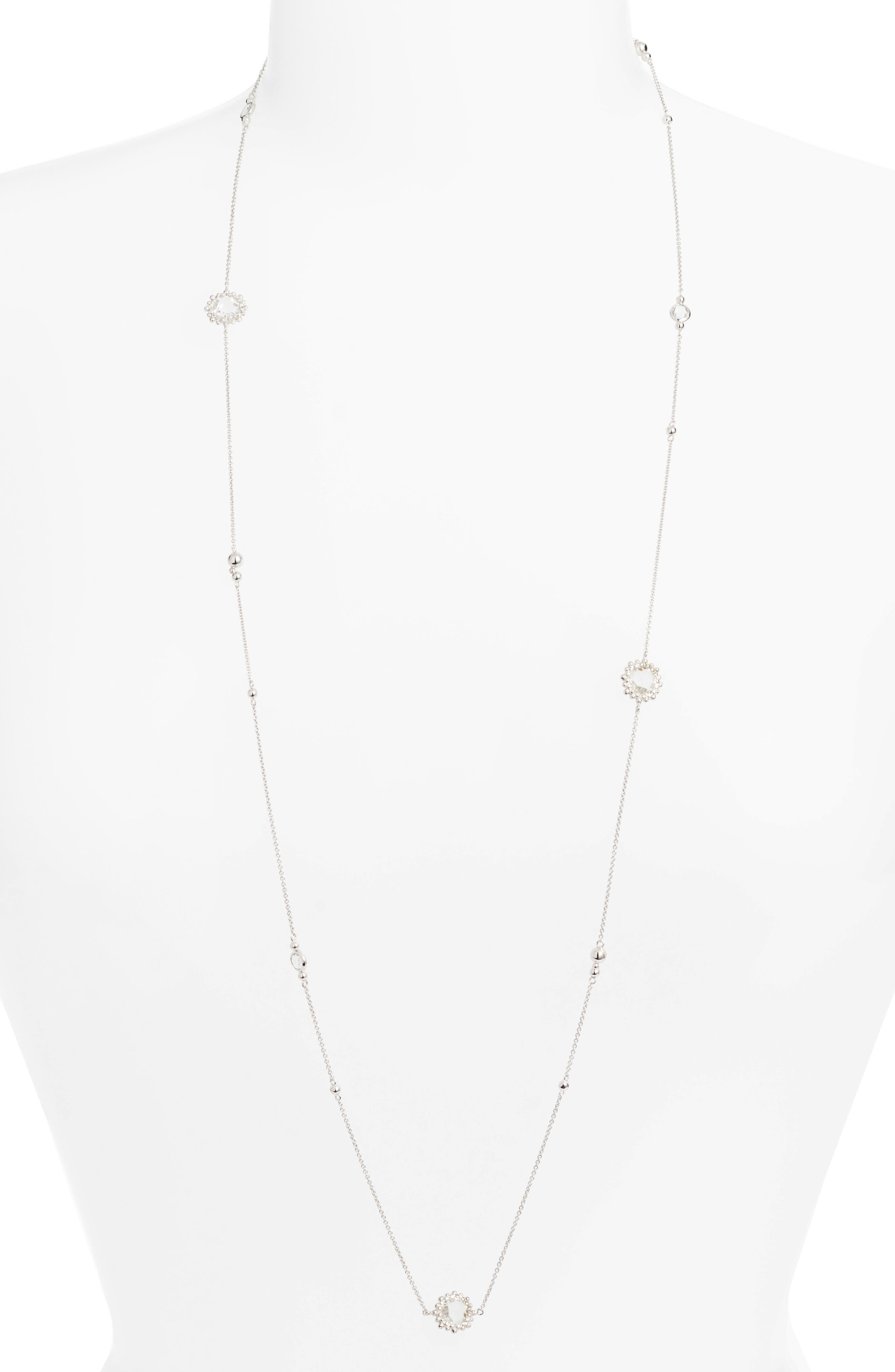 ANZIE Bubbling Brook Necklace in Silver