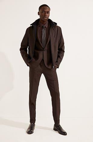 Designer fashion: Man wearing Zegna.
