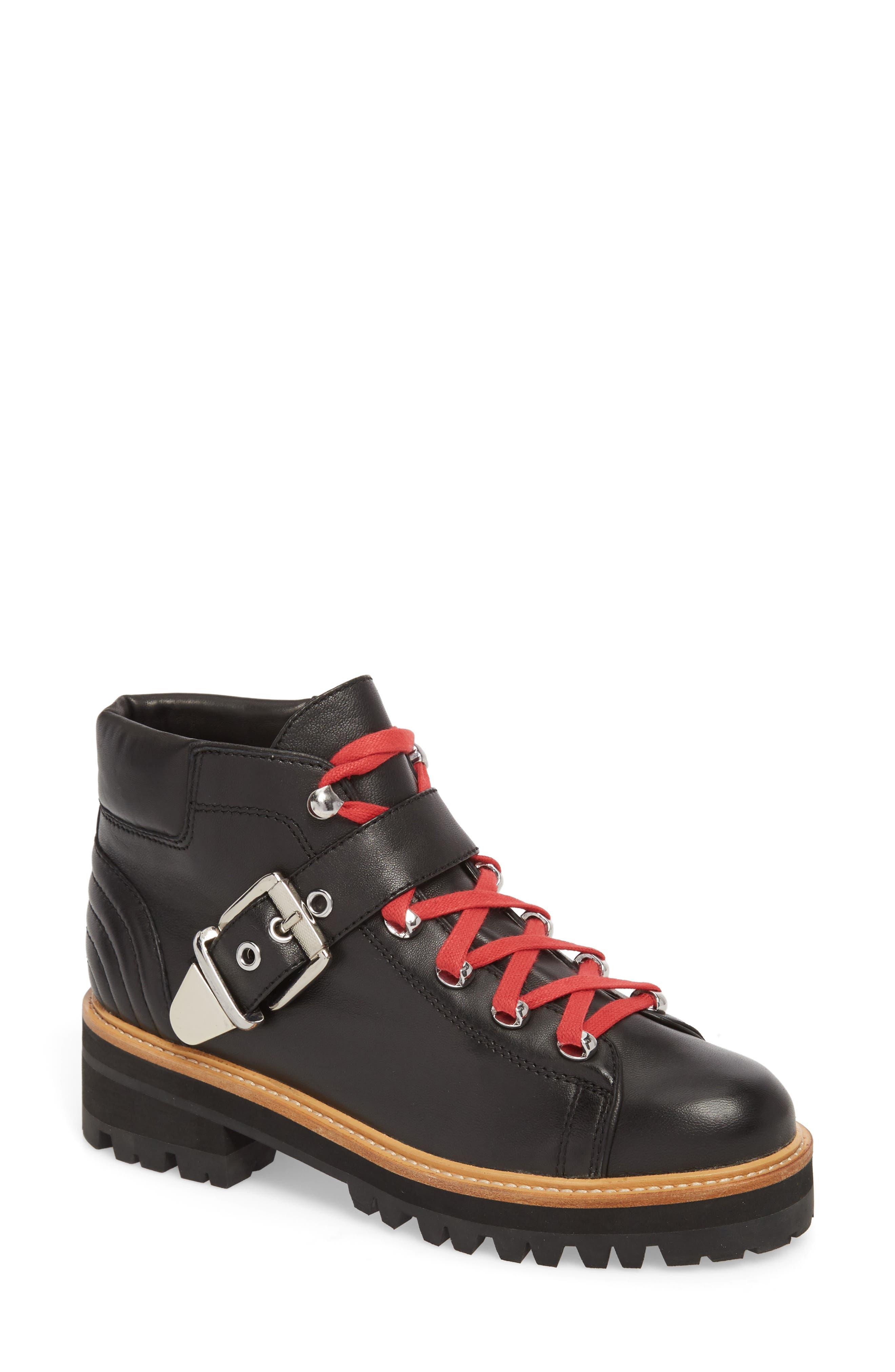 Indre Platform Boot,                         Main,                         color, BLACK LEATHER