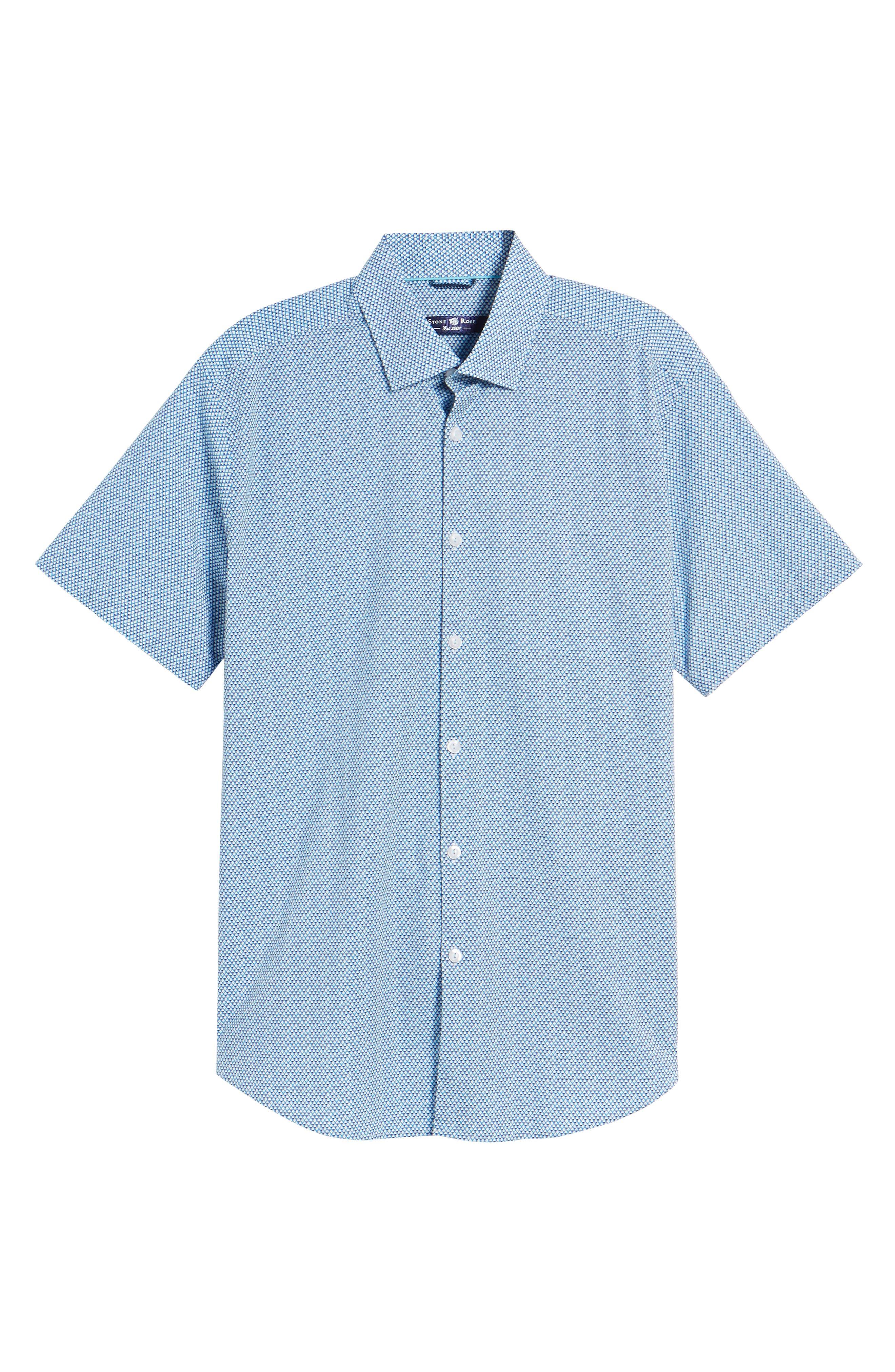 Slim Fit Diamond Print Sport Shirt,                             Alternate thumbnail 6, color,                             435