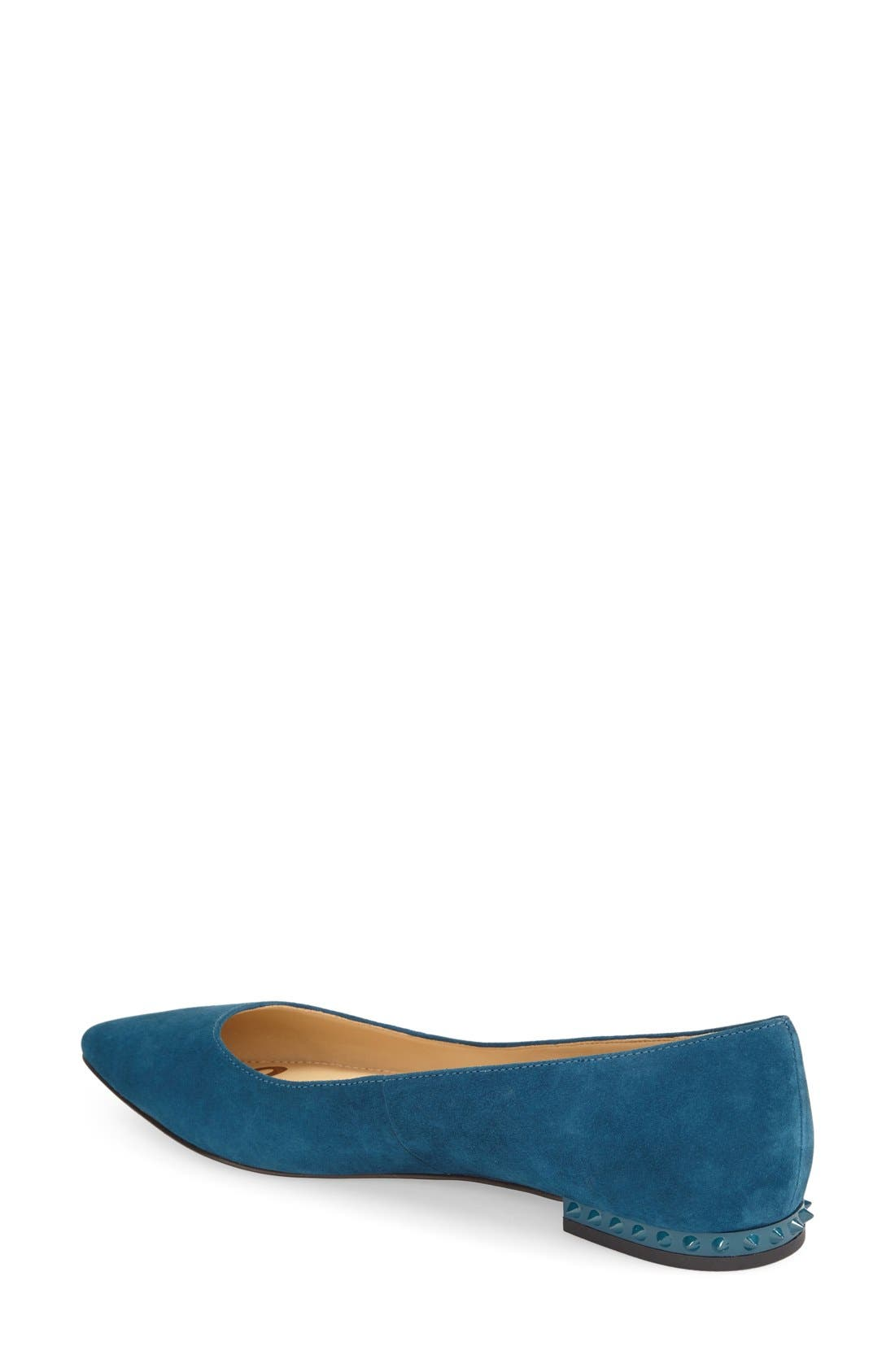 'Reyanne' Spike Rand Pointy Toe Flat,                             Alternate thumbnail 20, color,