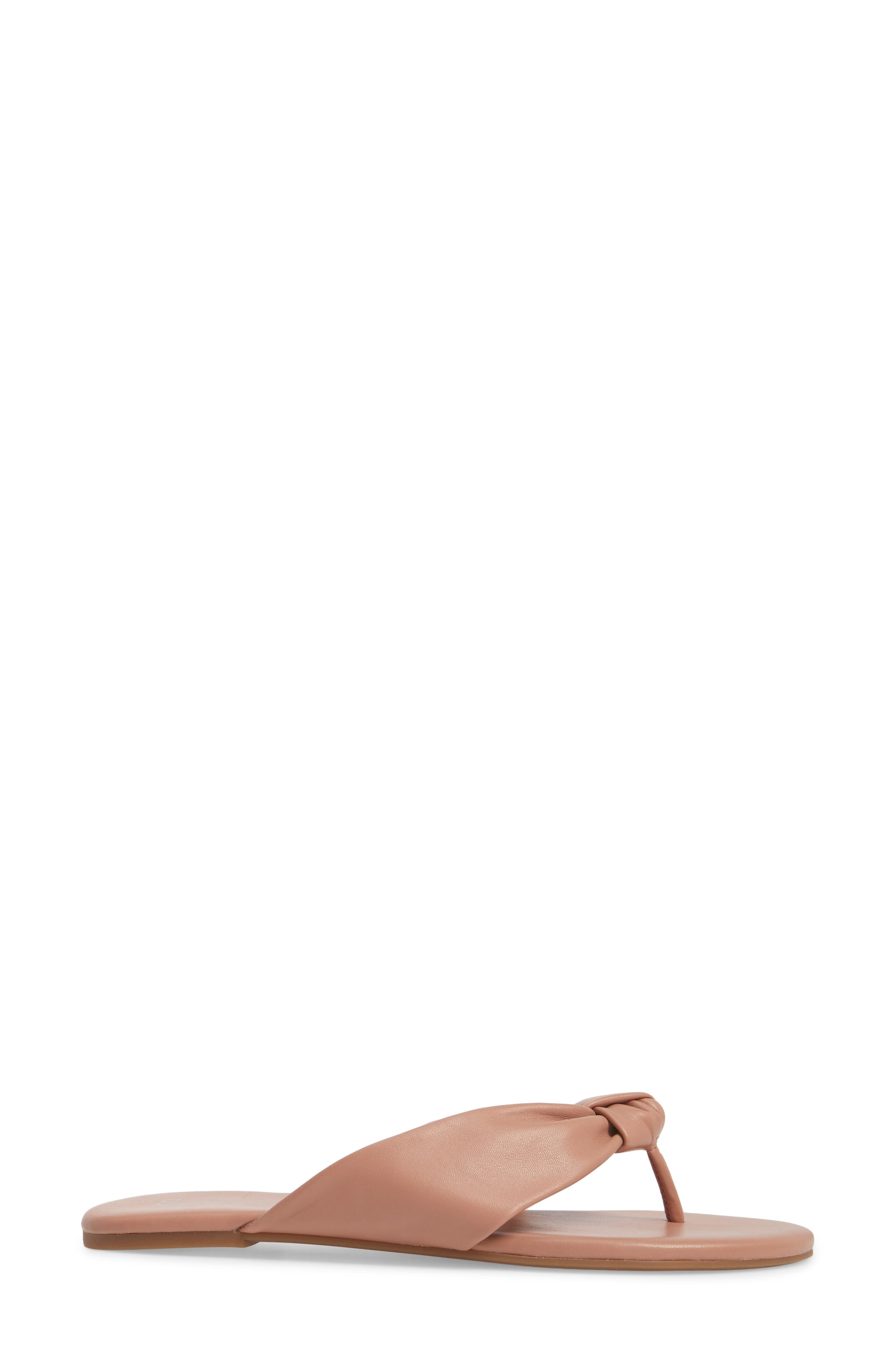 Bridgette Knotted Flip Flop,                             Alternate thumbnail 23, color,