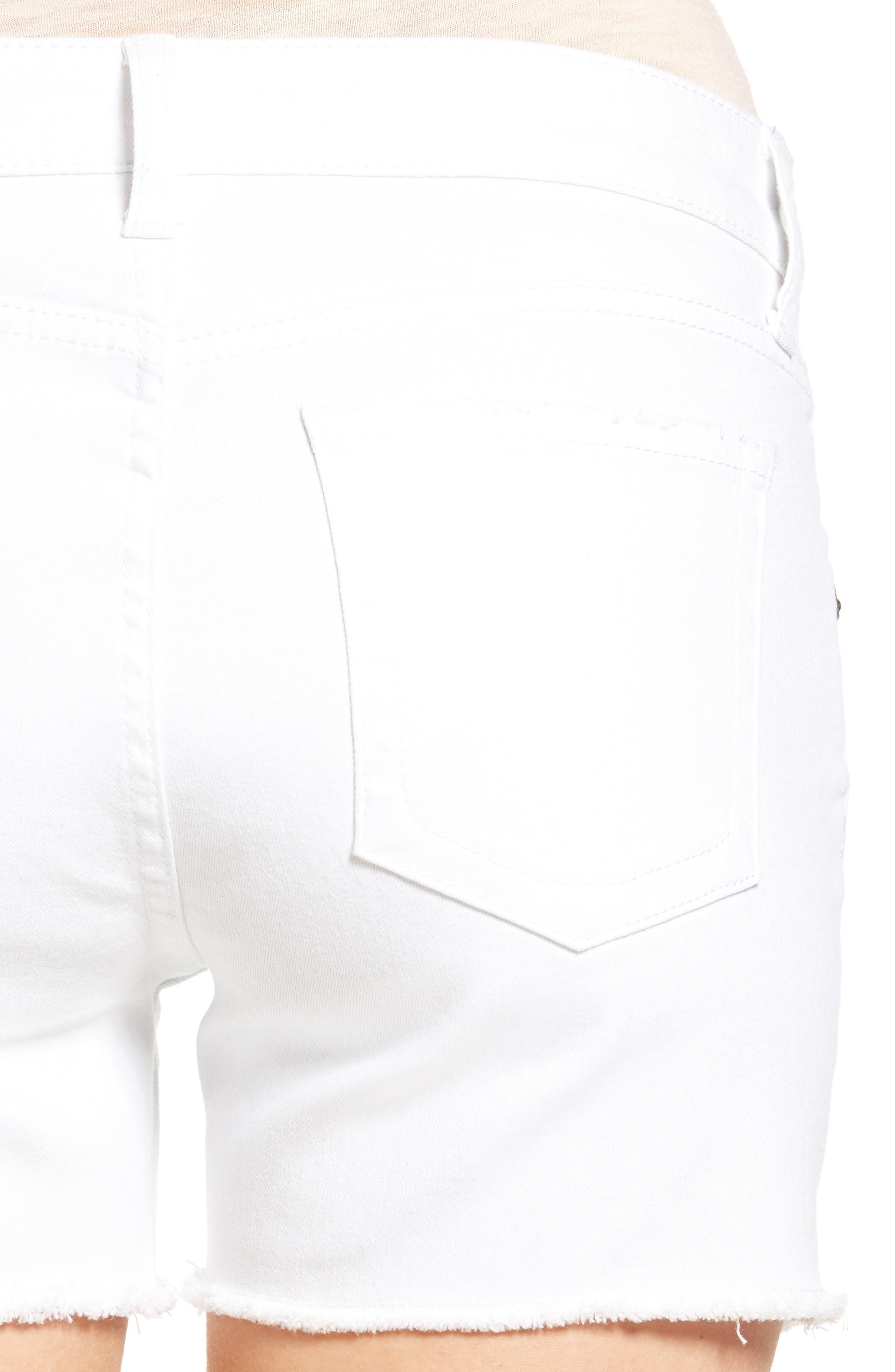 Gidget Denim Shorts,                             Alternate thumbnail 4, color,                             110