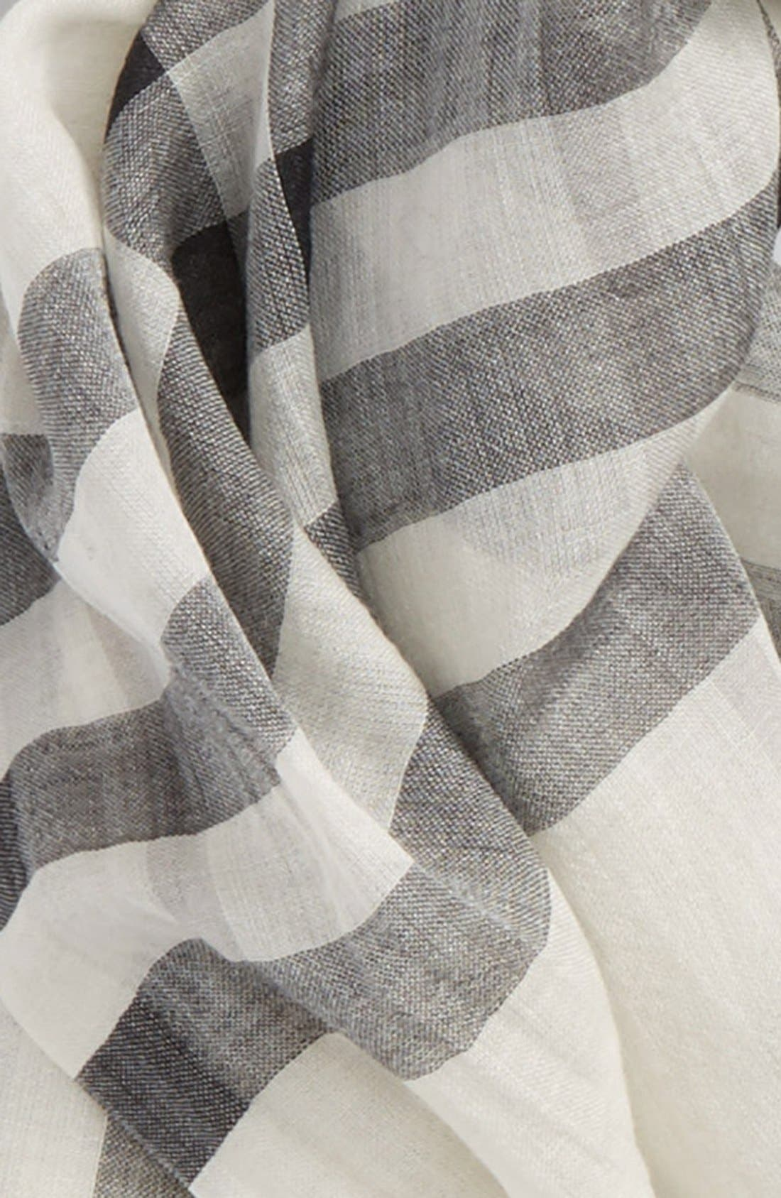 Giant Check Print Wool & Silk Scarf,                             Alternate thumbnail 78, color,