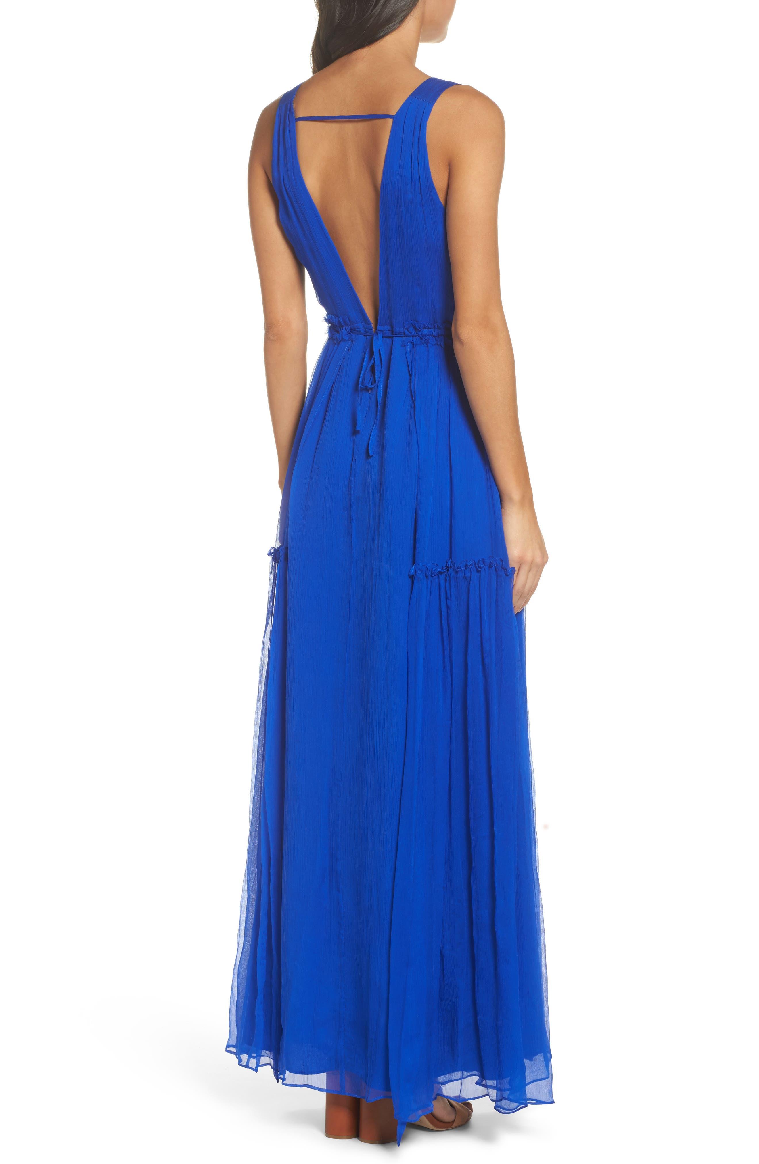 BB Dakota Yasmeen Tiered Georgette Maxi Dress,                             Alternate thumbnail 2, color,                             488