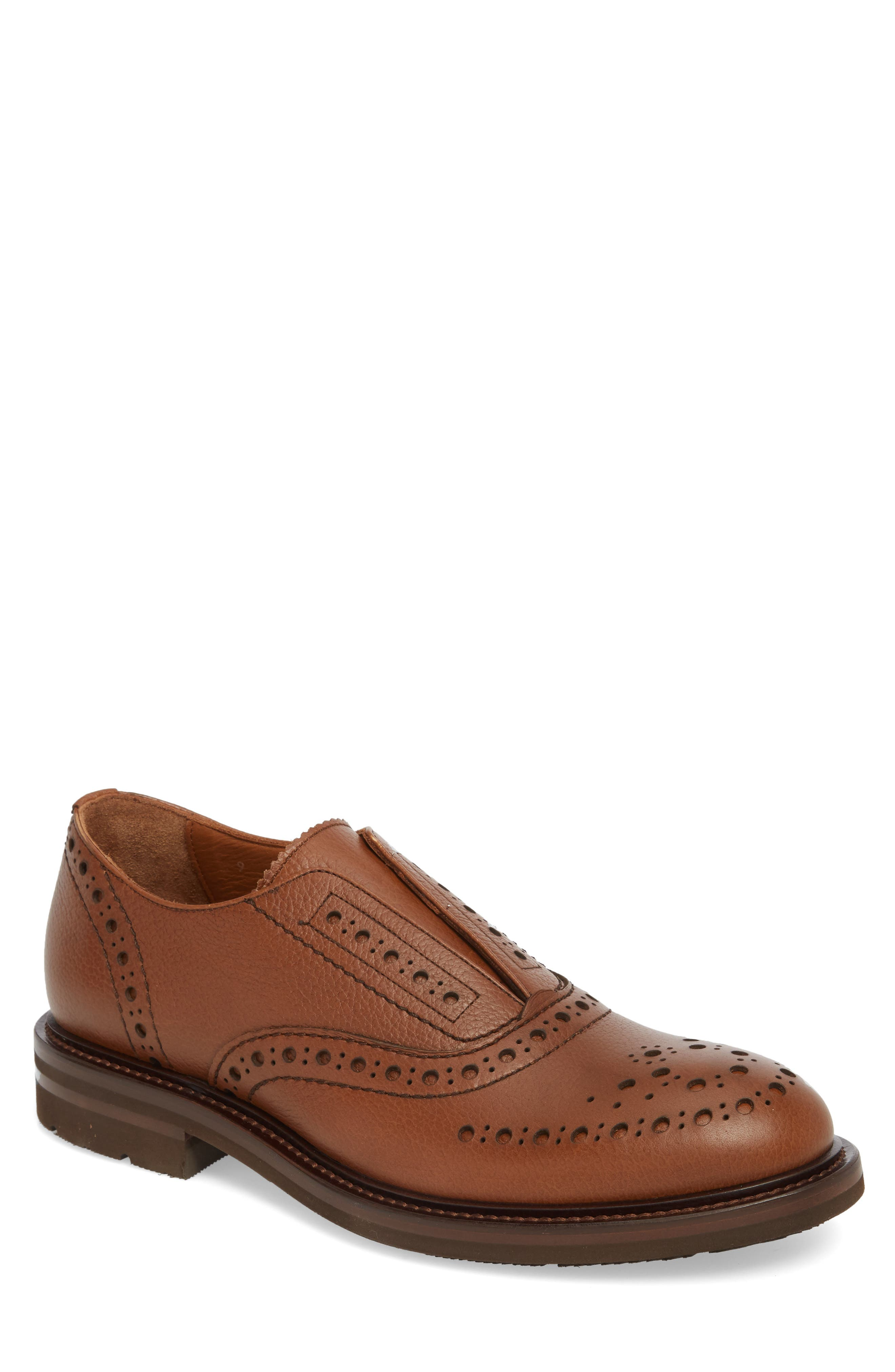 Romeo Weatherproof Laceless Oxford,                             Main thumbnail 1, color,                             NUT