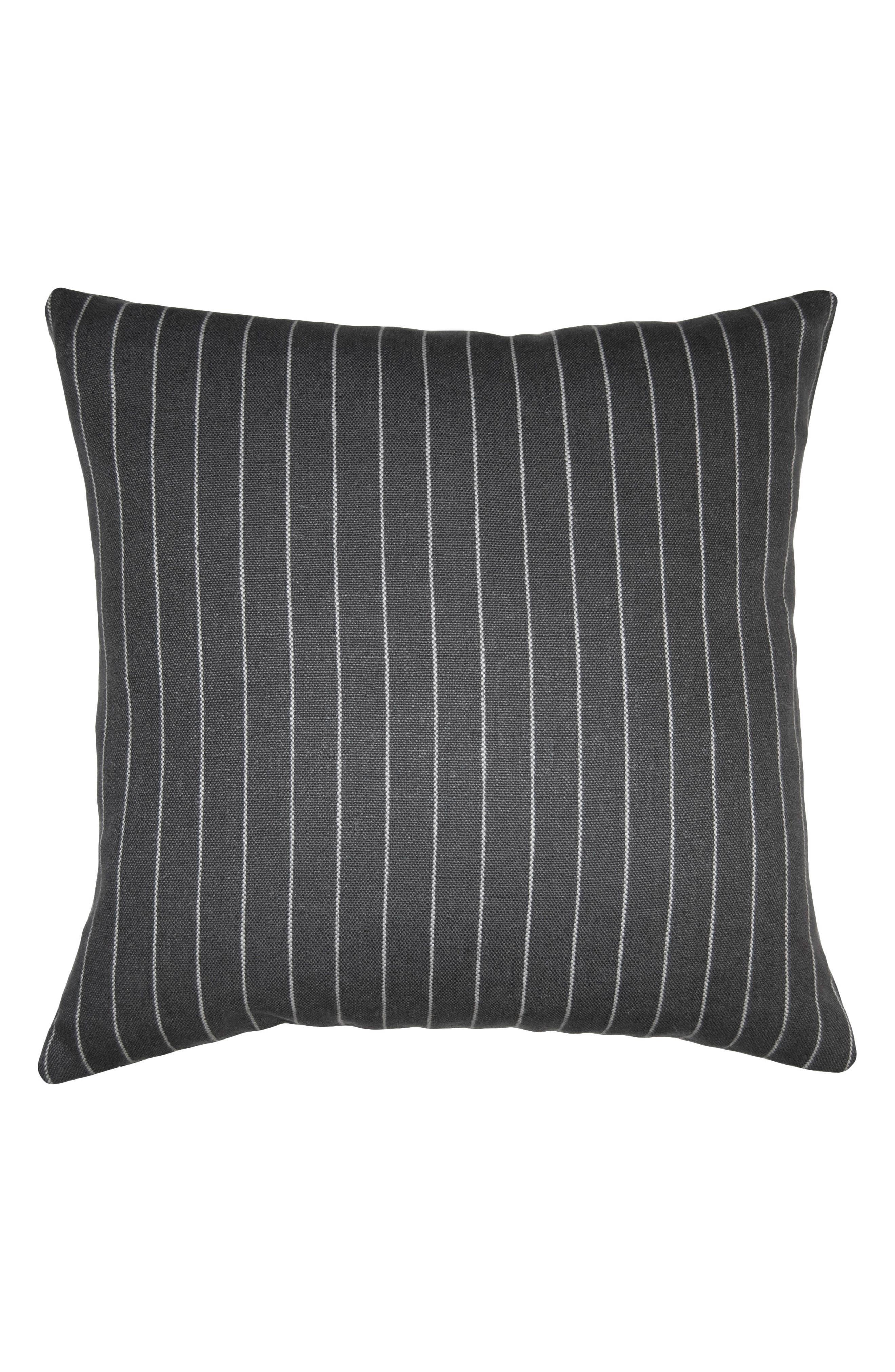 Robertson Stripe Accent Pillow,                             Main thumbnail 1, color,                             GREY