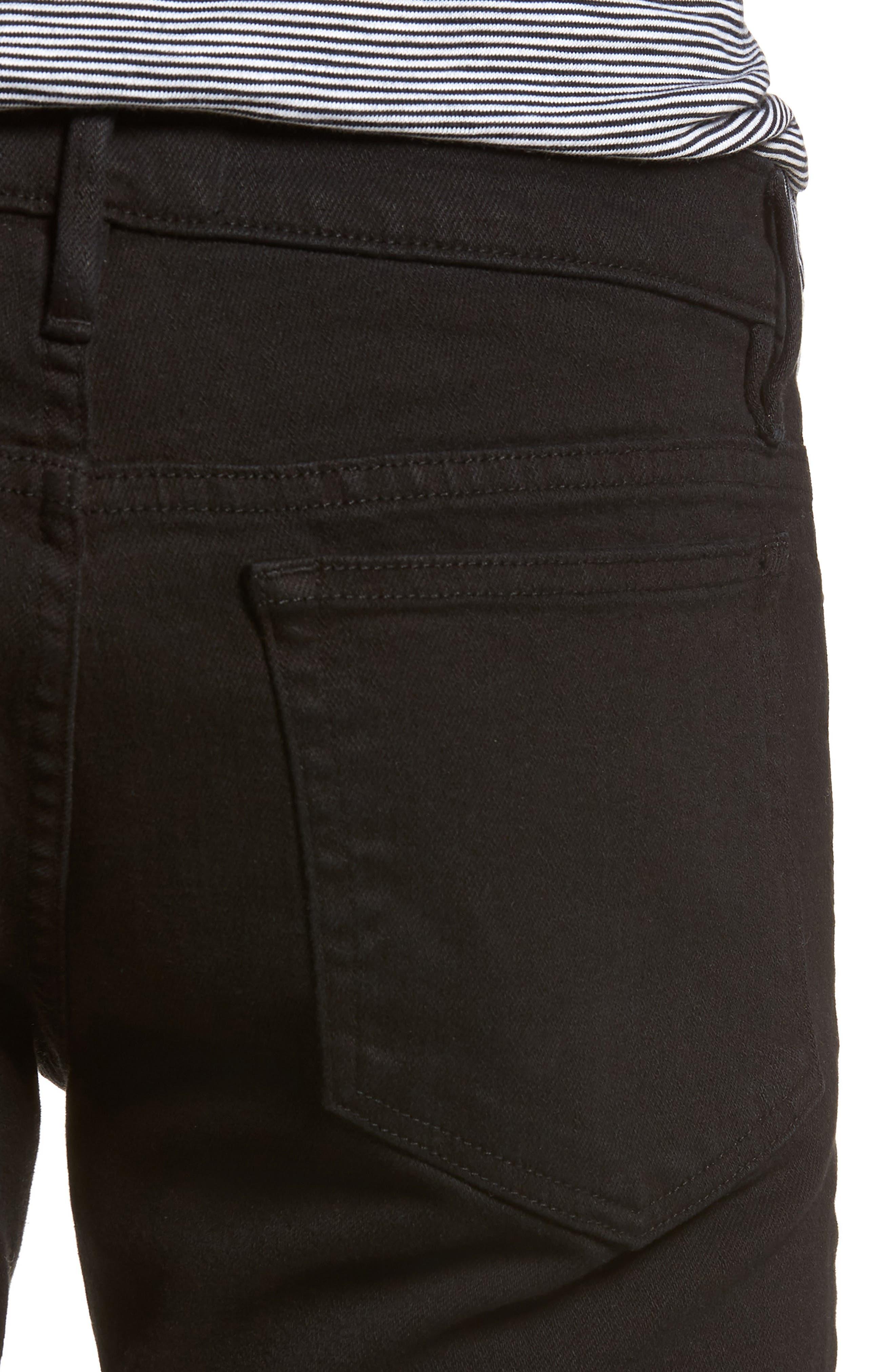 L'Homme Slim Fit Jeans,                             Alternate thumbnail 4, color,                             NOIR