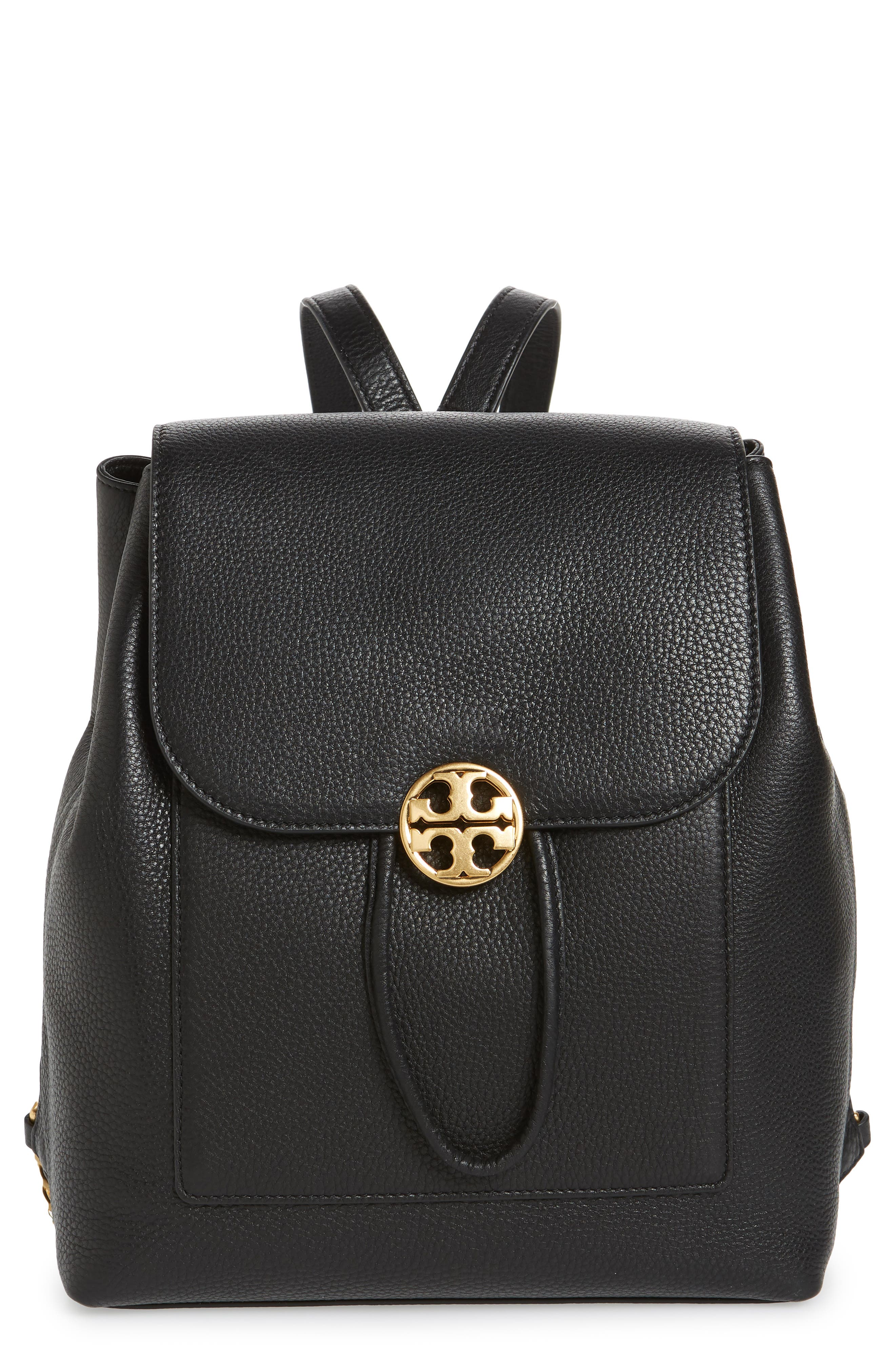 Chelsea Leather Backpack,                         Main,                         color, 001