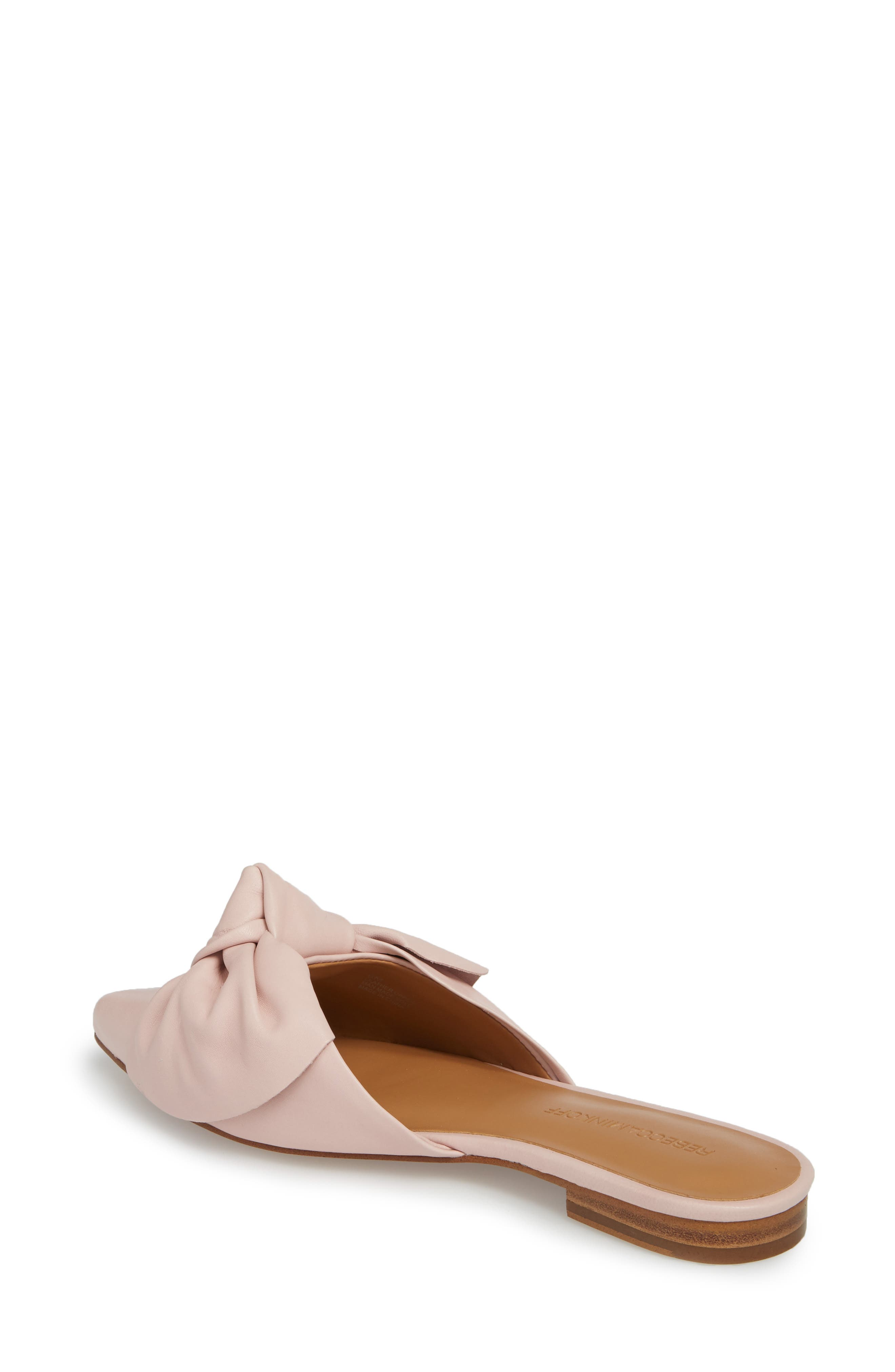 Alexis Bow Mule,                             Alternate thumbnail 2, color,                             MILLENNIAL PINK LEATHER