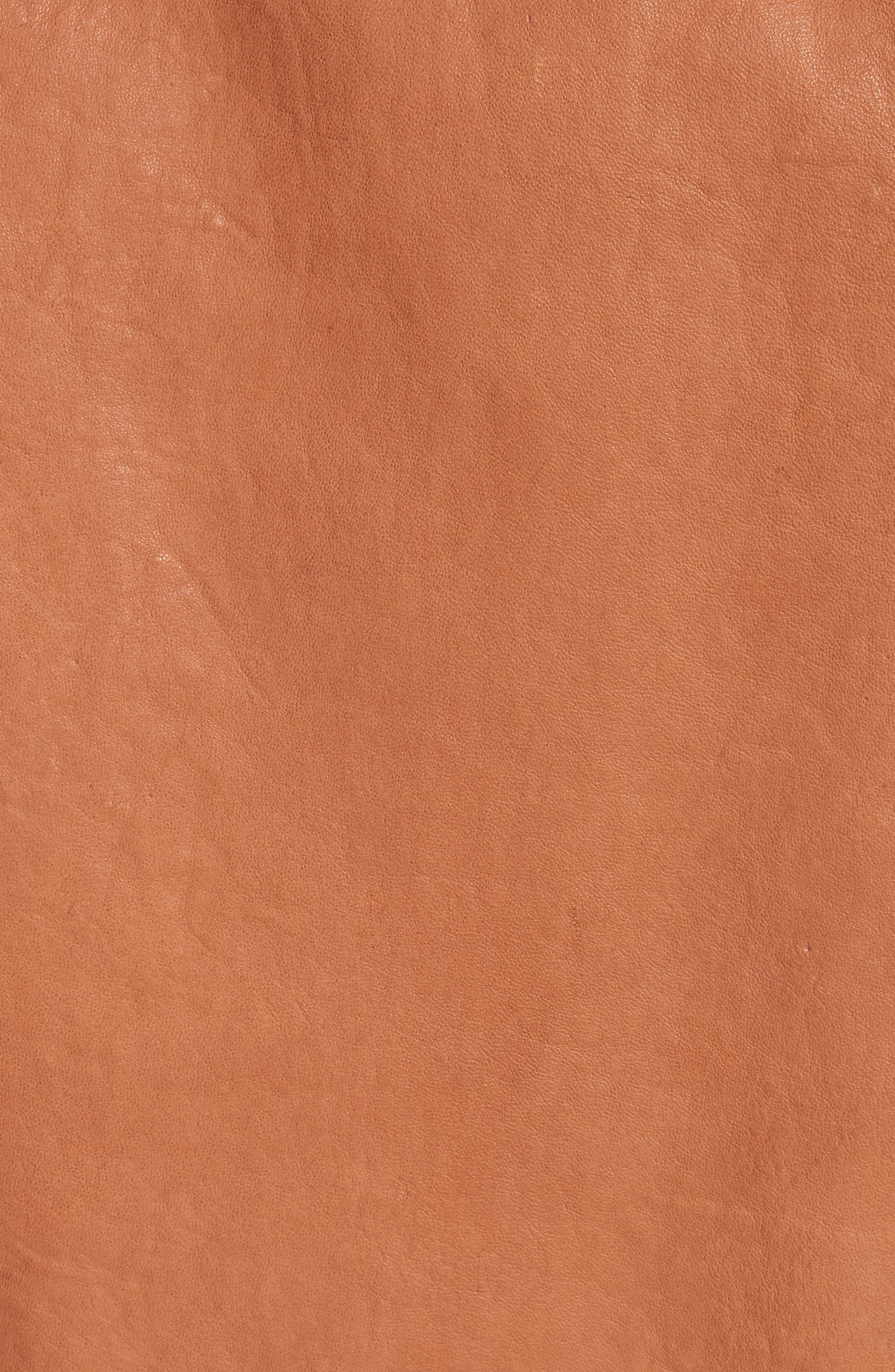 Lyon Leather Jacket,                             Alternate thumbnail 6, color,                             200