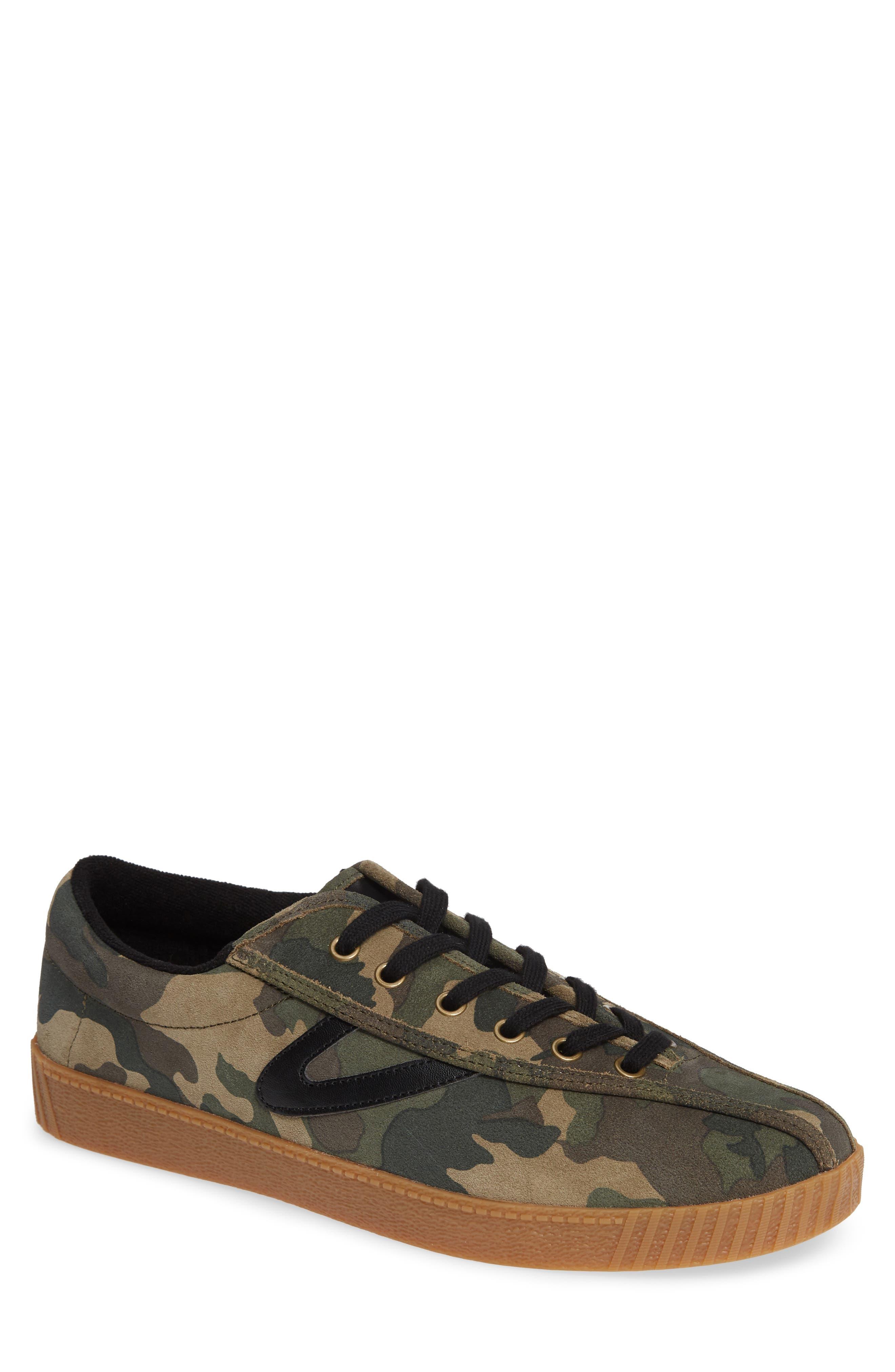 TRETORN Men'S Nylite 26 Plus Suede Sneakers in Green
