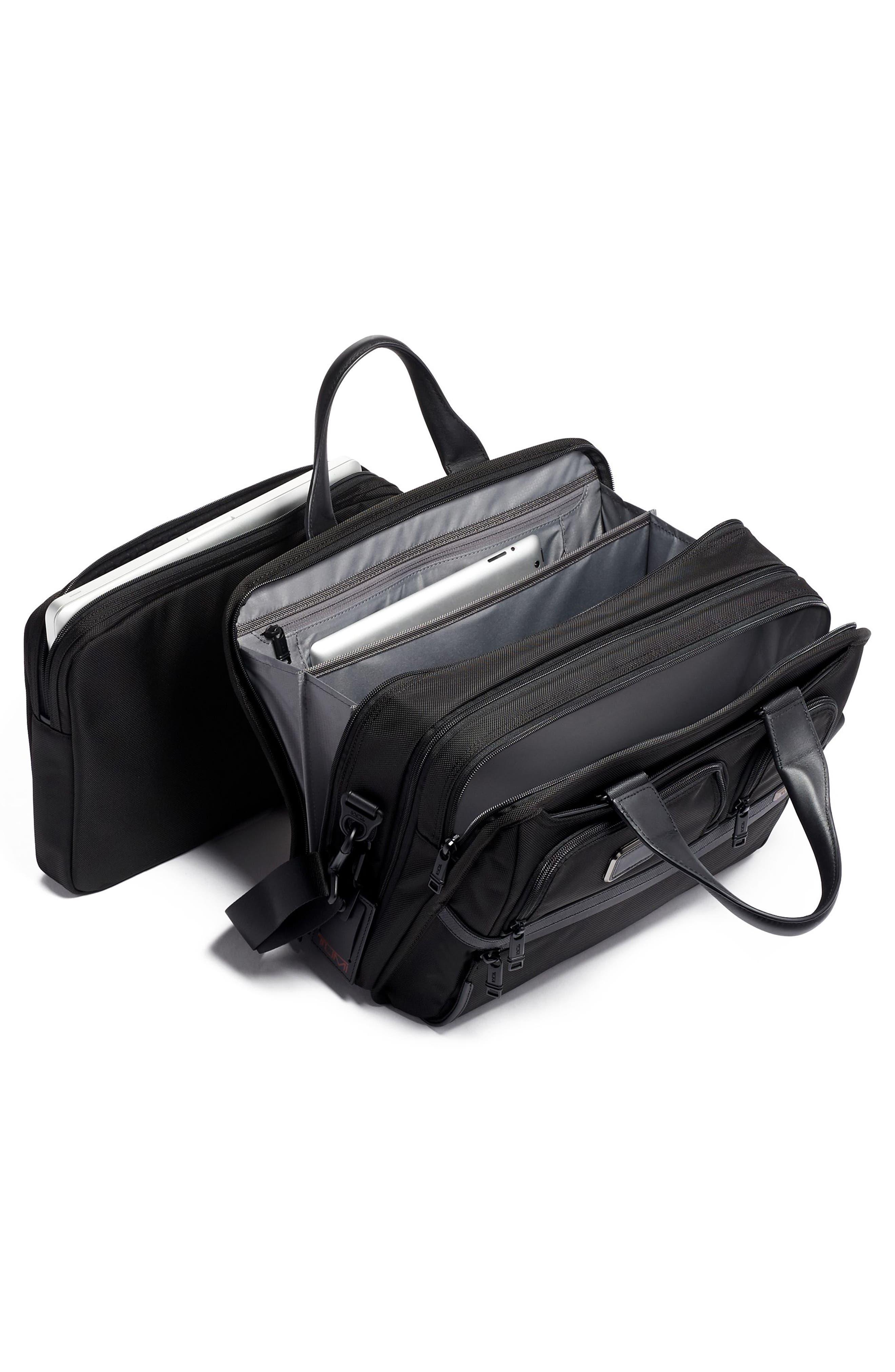 TUMI,                             Alpha 3 T-Pass<sup>®</sup> Expandable Laptop Briefcase,                             Alternate thumbnail 4, color,                             BLACK