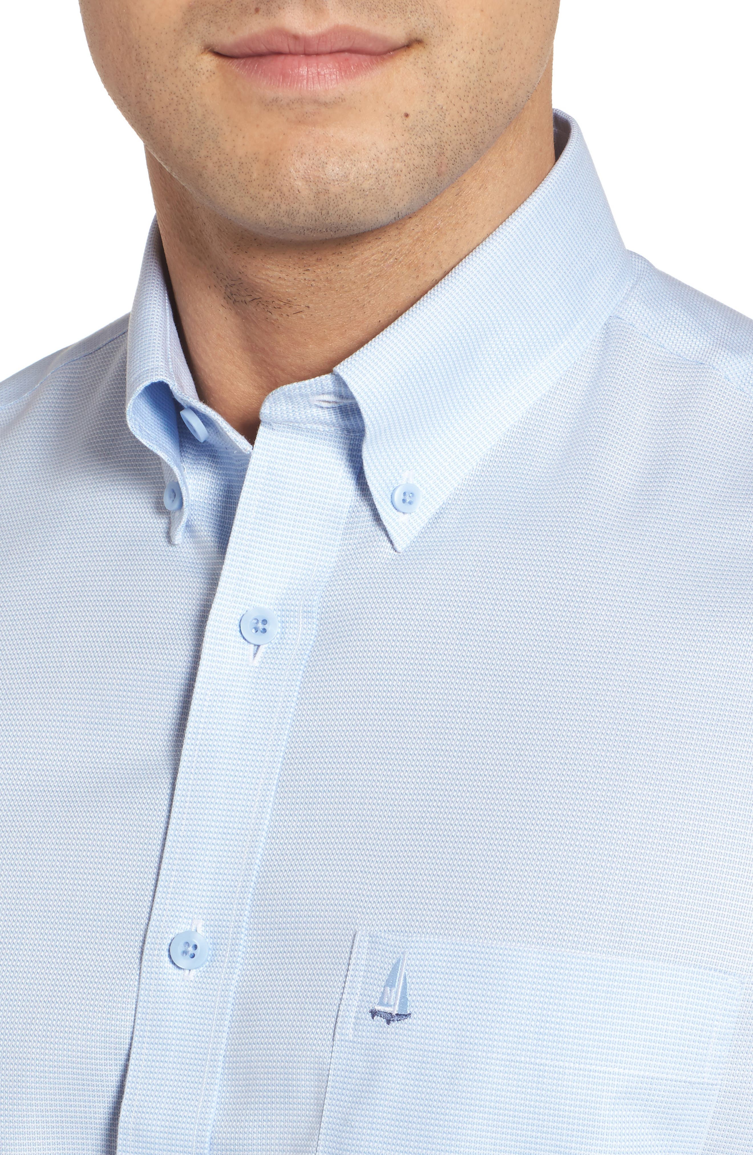 'Classic' Smartcare<sup>™</sup> Regular Fit Short Sleeve Cotton Sport Shirt,                             Alternate thumbnail 90, color,