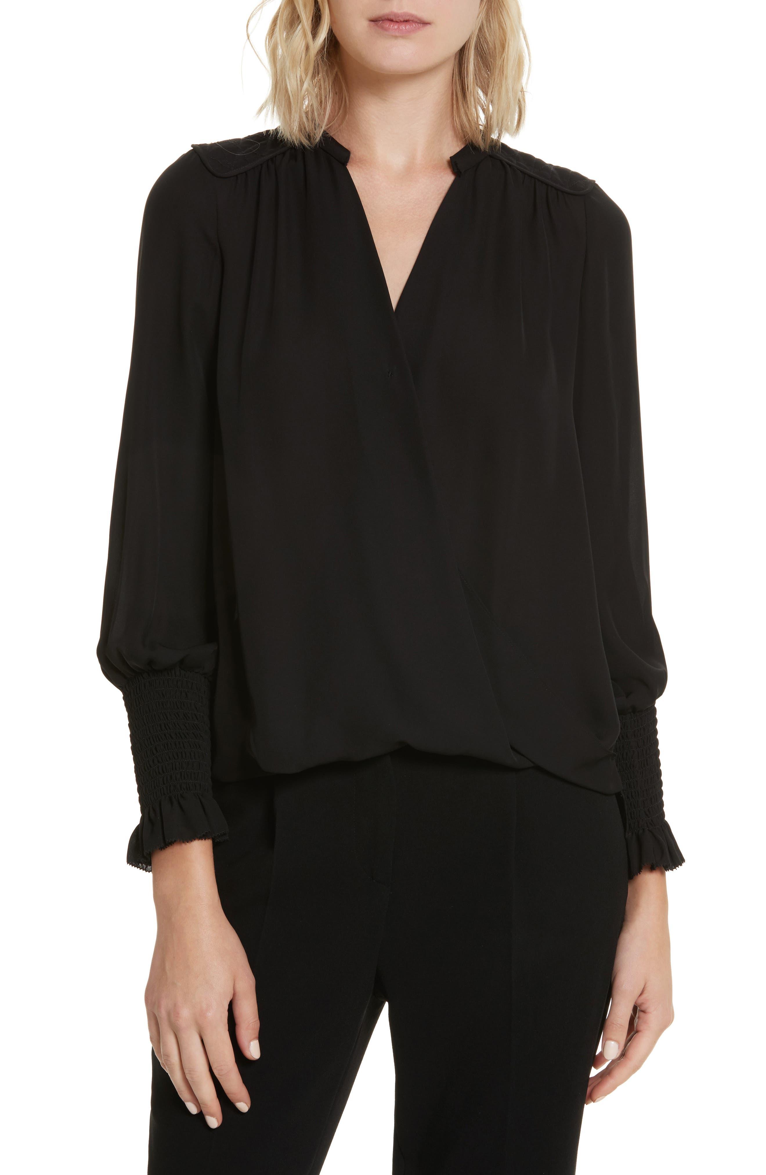 Silk Wrap Top,                         Main,                         color,