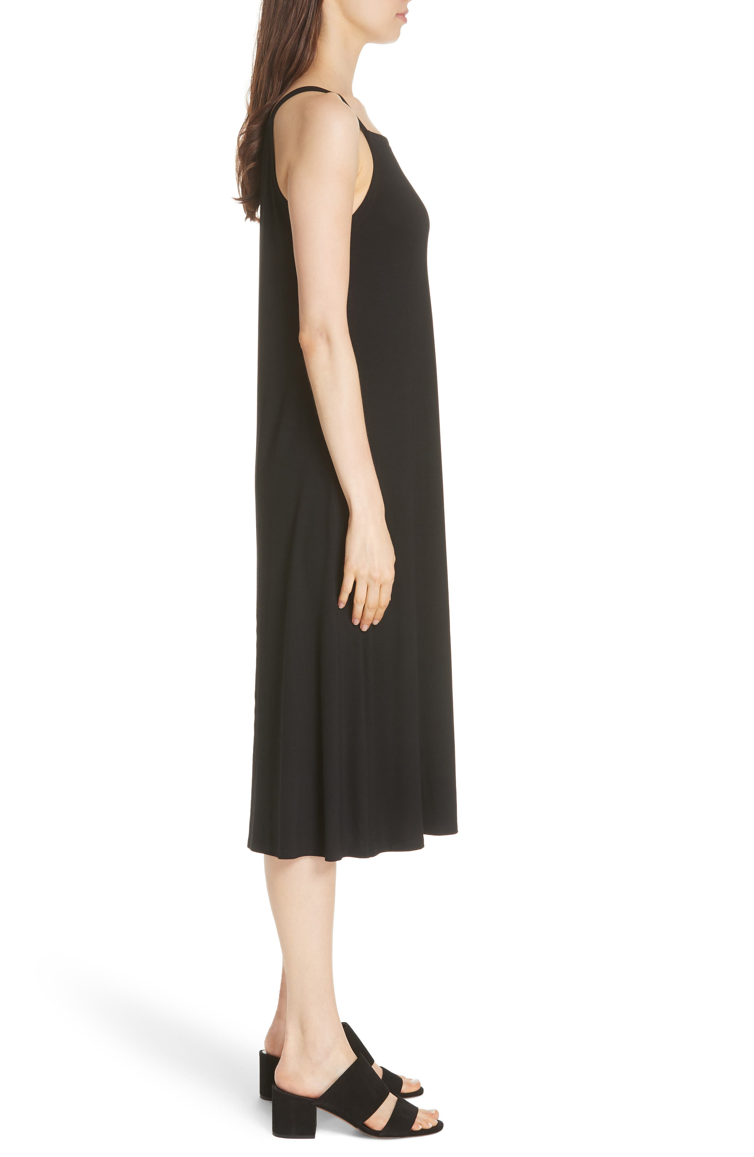 Cami Dress,                             Alternate thumbnail 3, color,                             BLACK