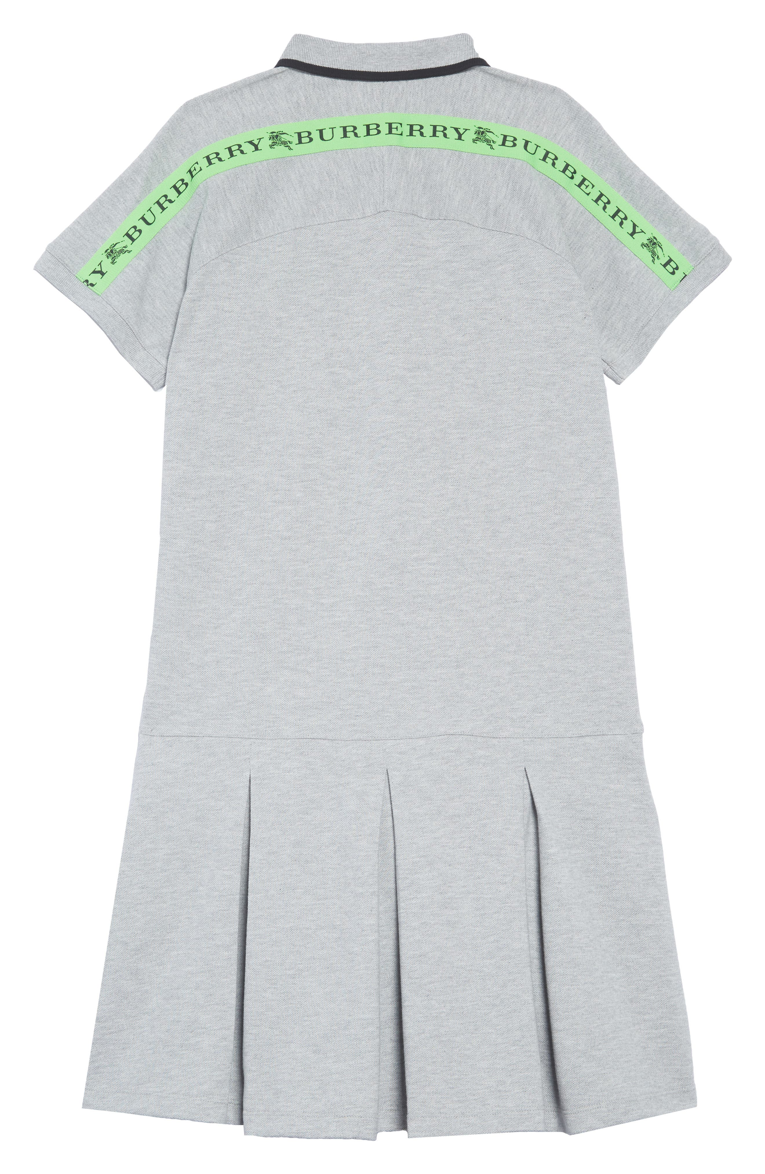 Mollyanna Polo Dress,                             Alternate thumbnail 2, color,                             GREY MELANGE