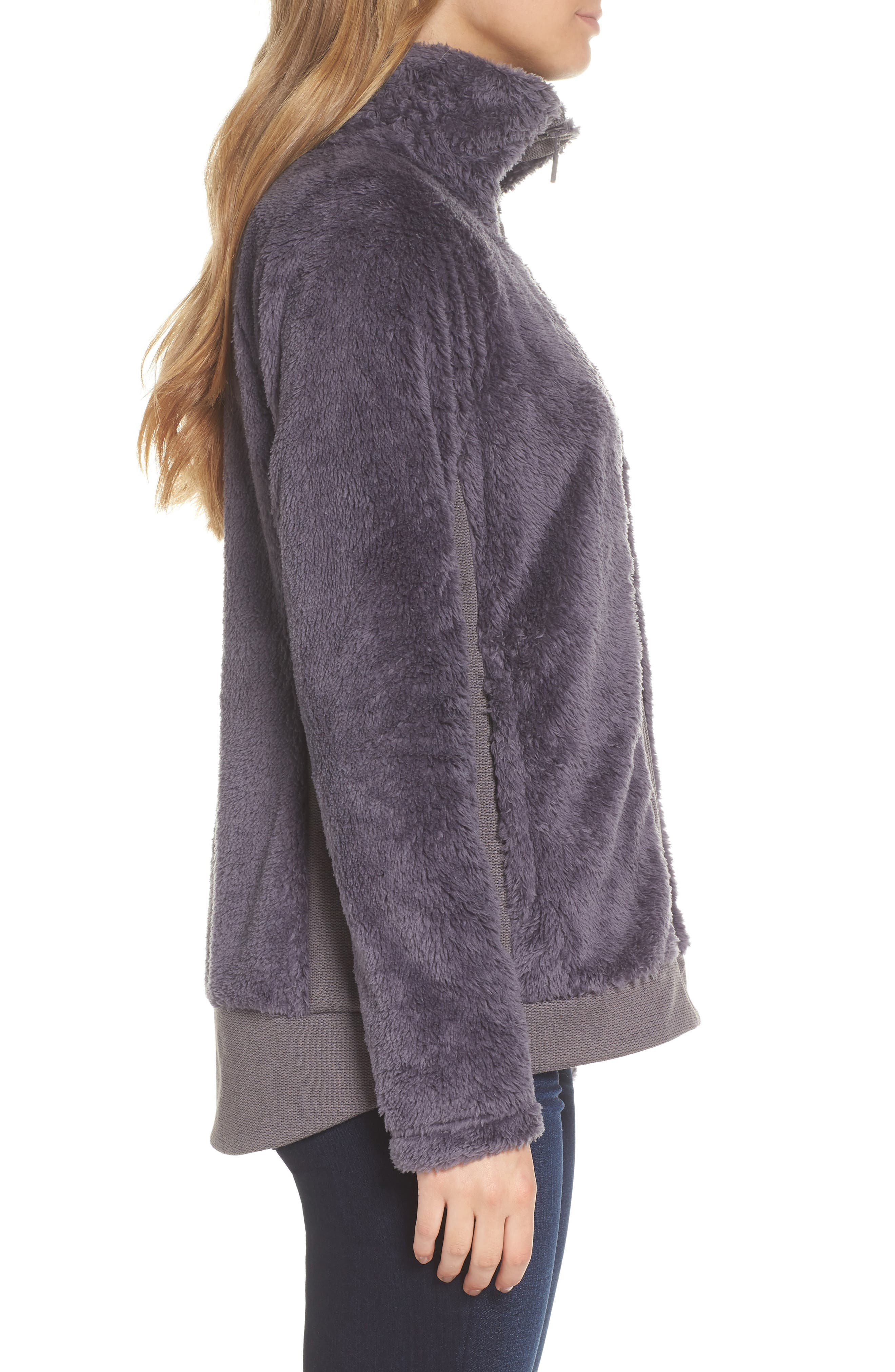 Furry Fleece Jacket,                             Alternate thumbnail 3, color,                             021