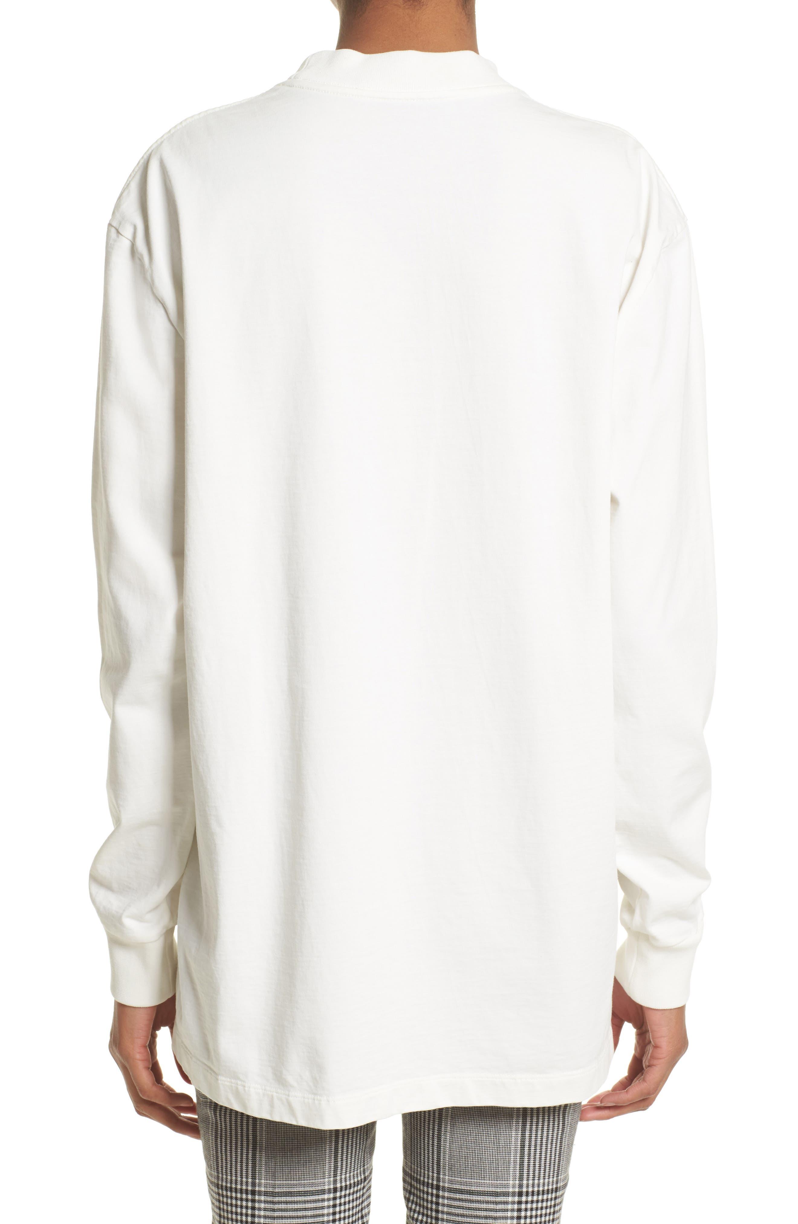 Flocked Graphic Sweatshirt,                             Alternate thumbnail 2, color,                             100