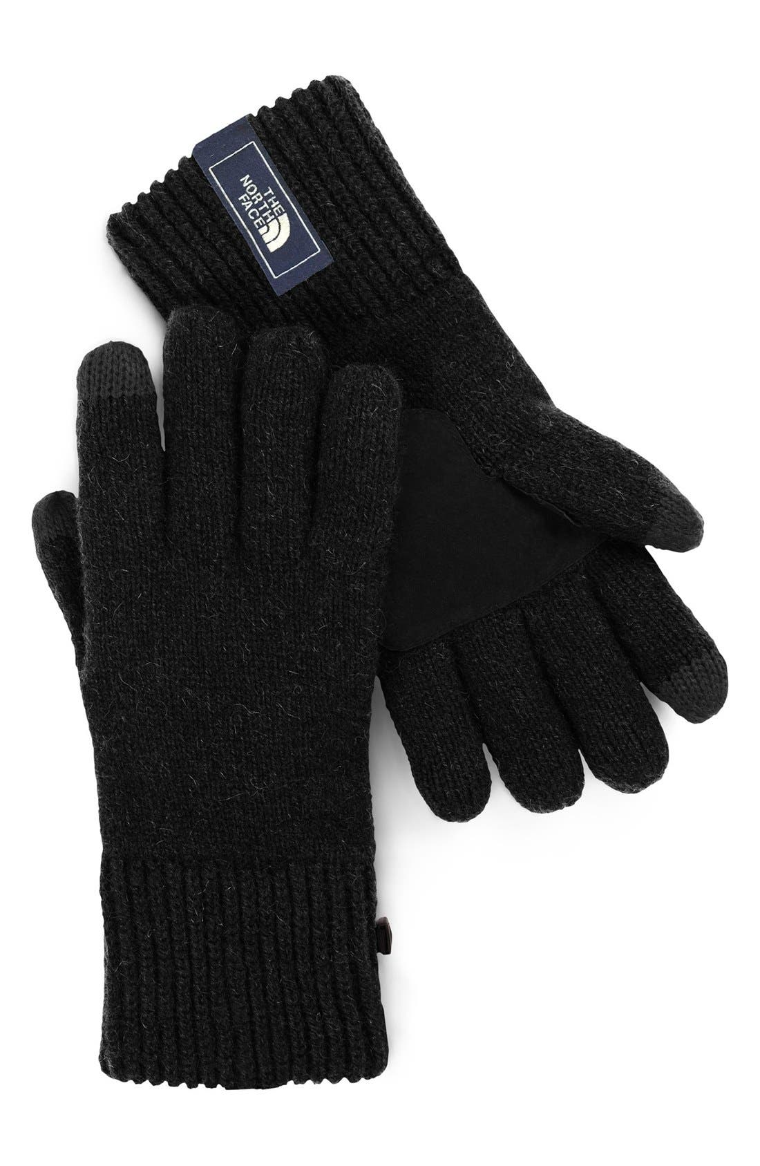 'Salty Dog' E-Tip Gloves,                             Main thumbnail 1, color,                             001