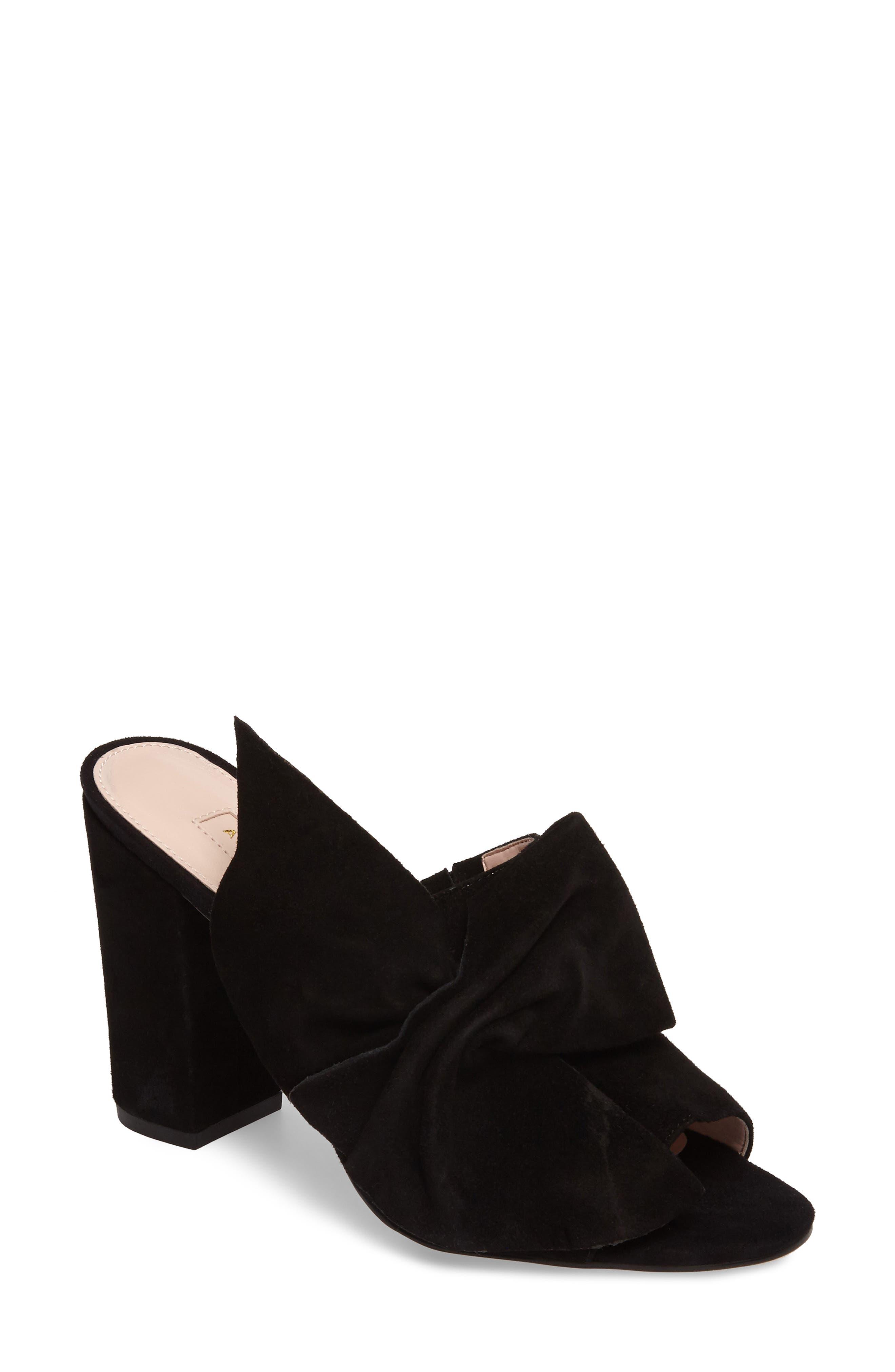 Marie Bow Slide Sandal,                             Main thumbnail 1, color,                             002