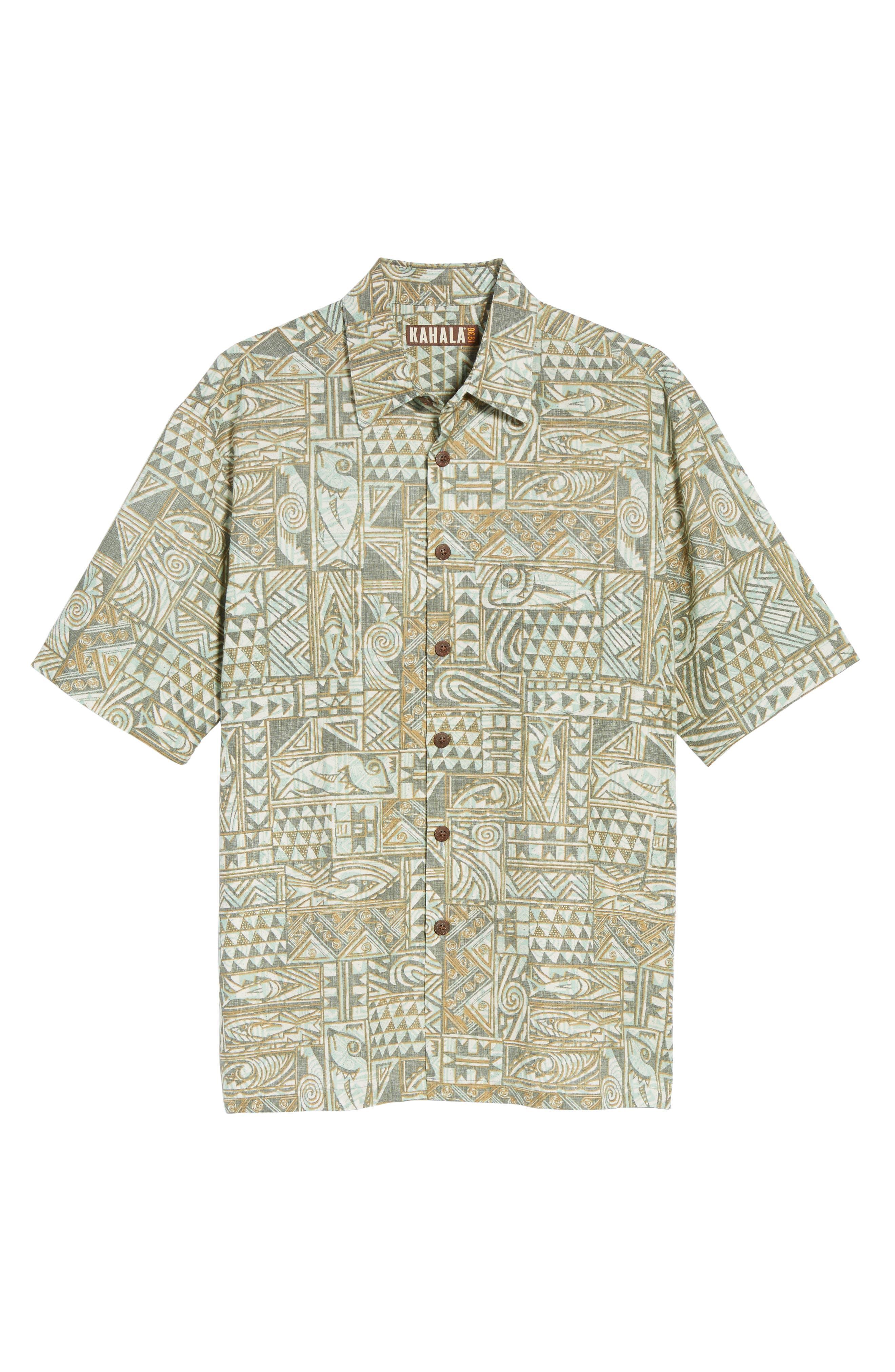 Ehukai Classic Fit Print Sport Shirt,                             Alternate thumbnail 6, color,                             020
