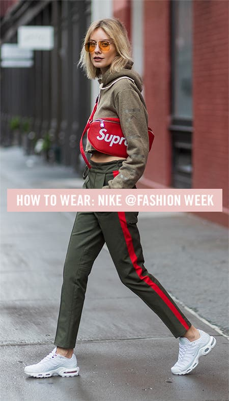 Nordstrom x Nike: how to wear Nike to New York Fashion Week spring 2018.