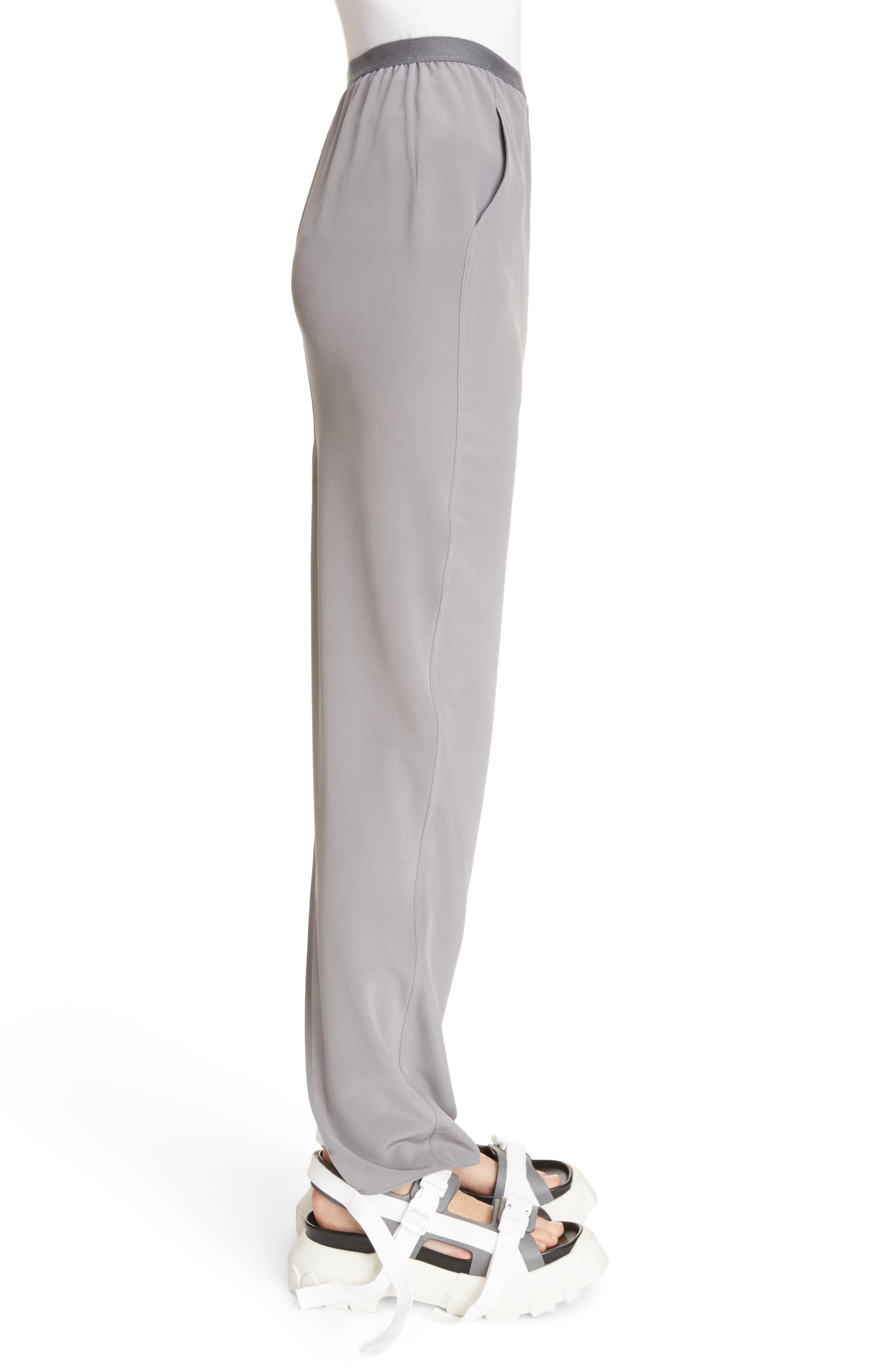 Split Back Silk Skirt,                             Alternate thumbnail 3, color,                             020