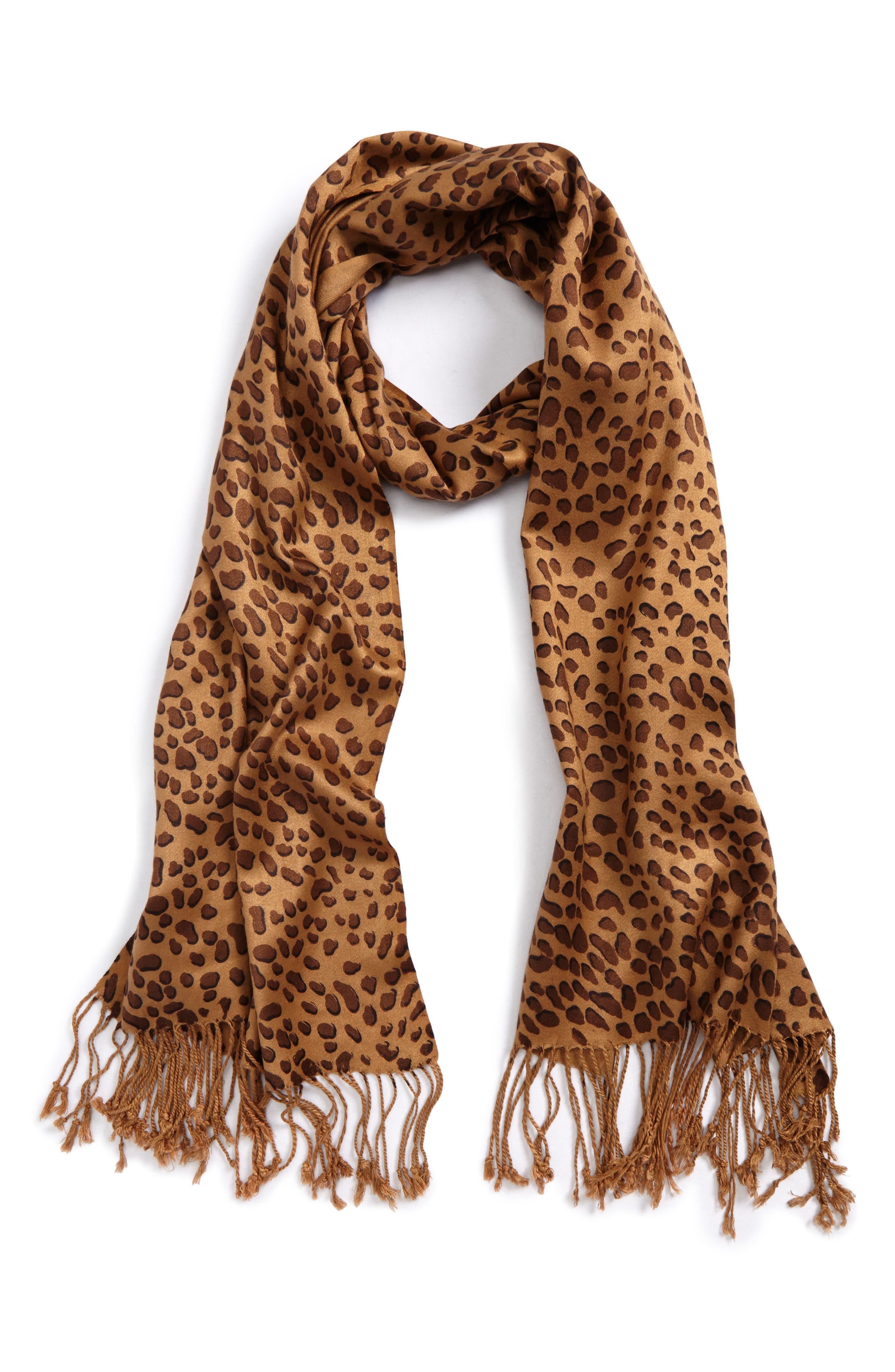 Leopard Print Scarf,                         Main,                         color,
