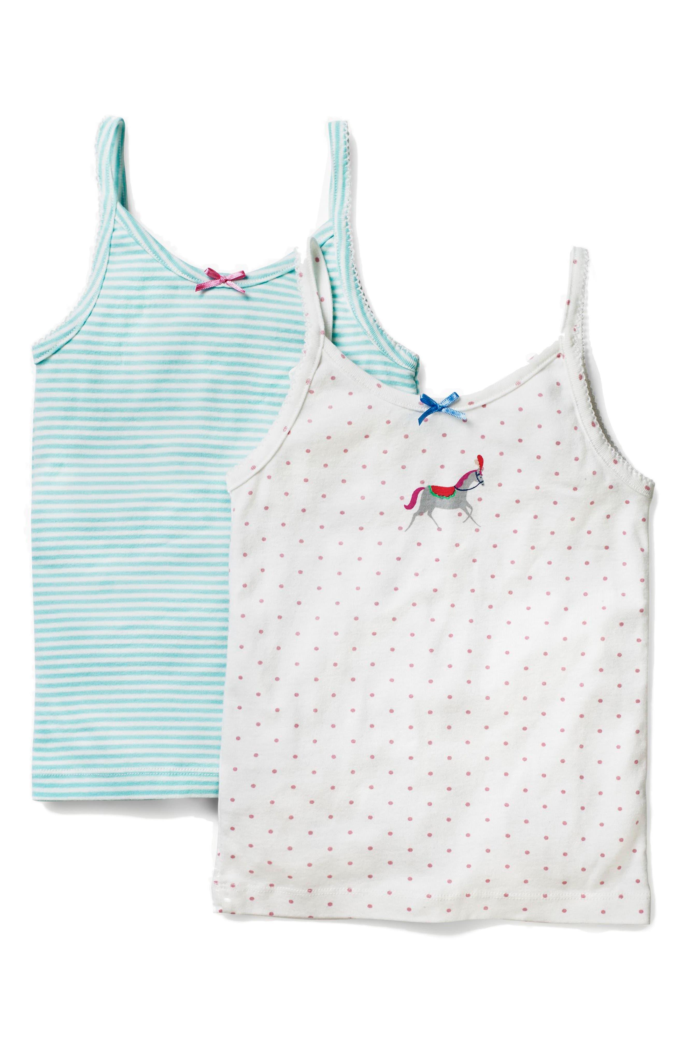 MINI BODEN,                             2-Pack Cotton Camisoles,                             Main thumbnail 1, color,                             402