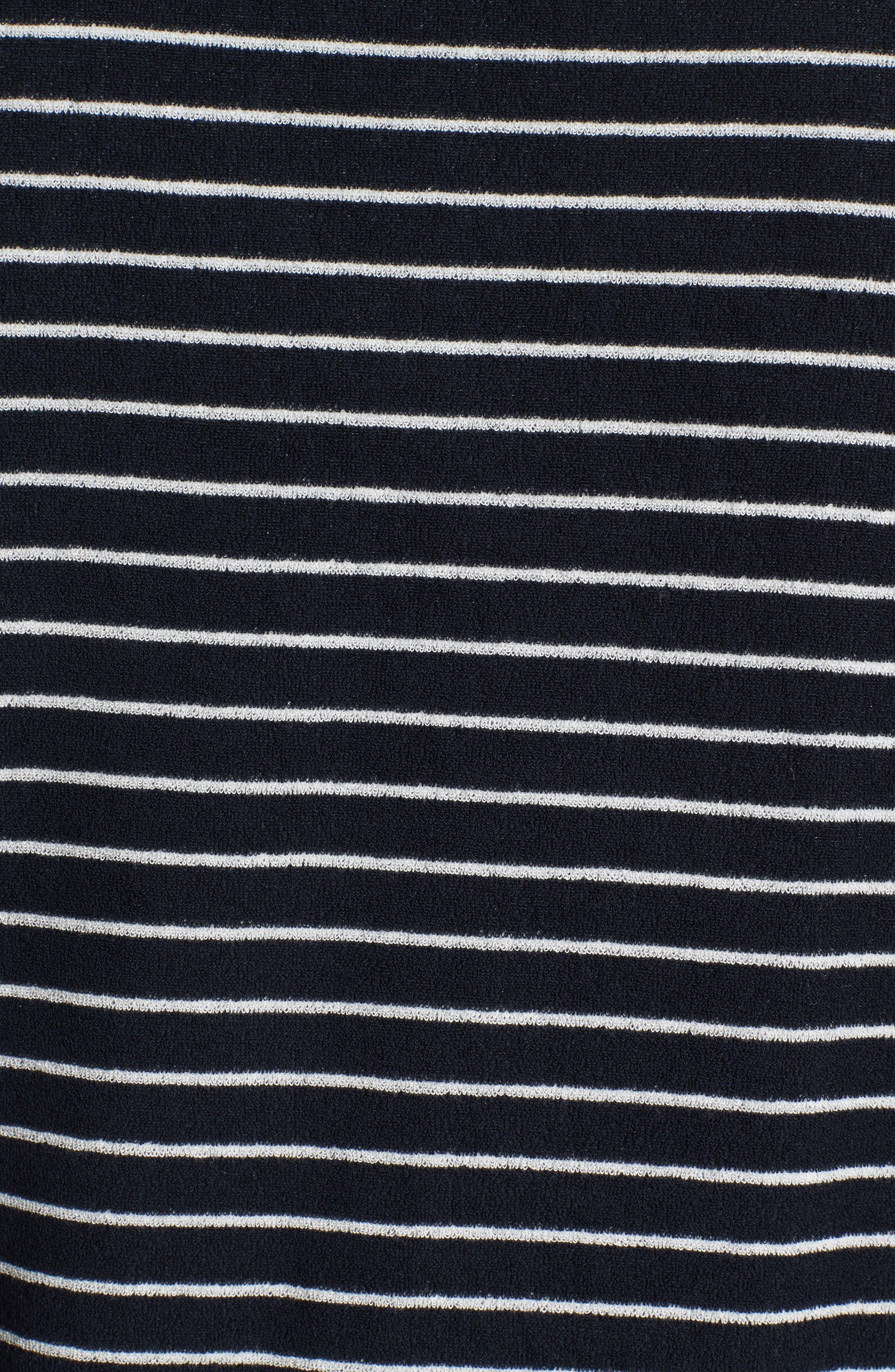 Yogi Striped Terry Sweatshirt,                             Alternate thumbnail 5, color,                             410