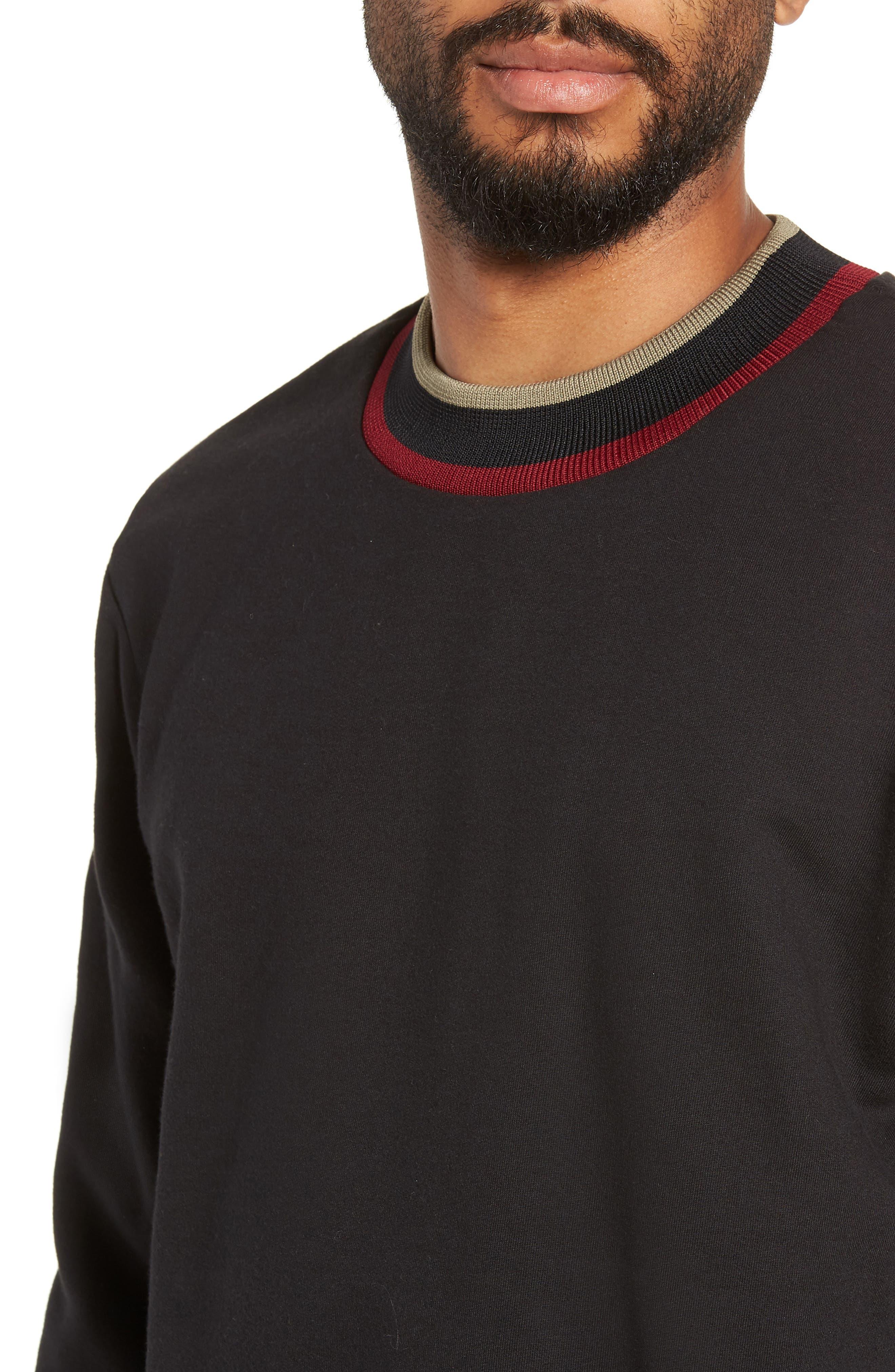 Pride Mock Neck Sweatshirt,                             Alternate thumbnail 4, color,                             JET BLACK