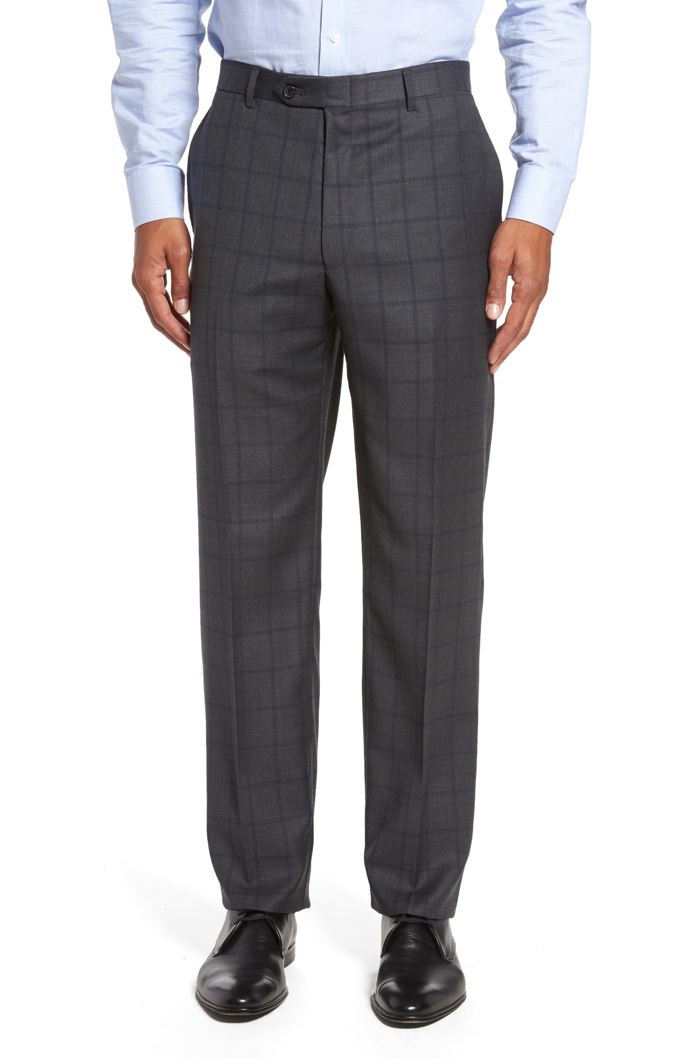 Classic Fit Windowpane Wool Suit,                             Alternate thumbnail 6, color,                             344