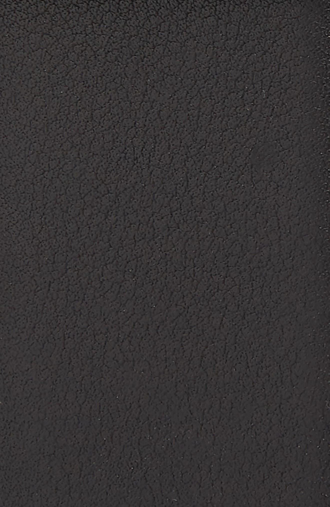 Gancio Leaf Buckle Leather Belt,                             Alternate thumbnail 2, color,                             001
