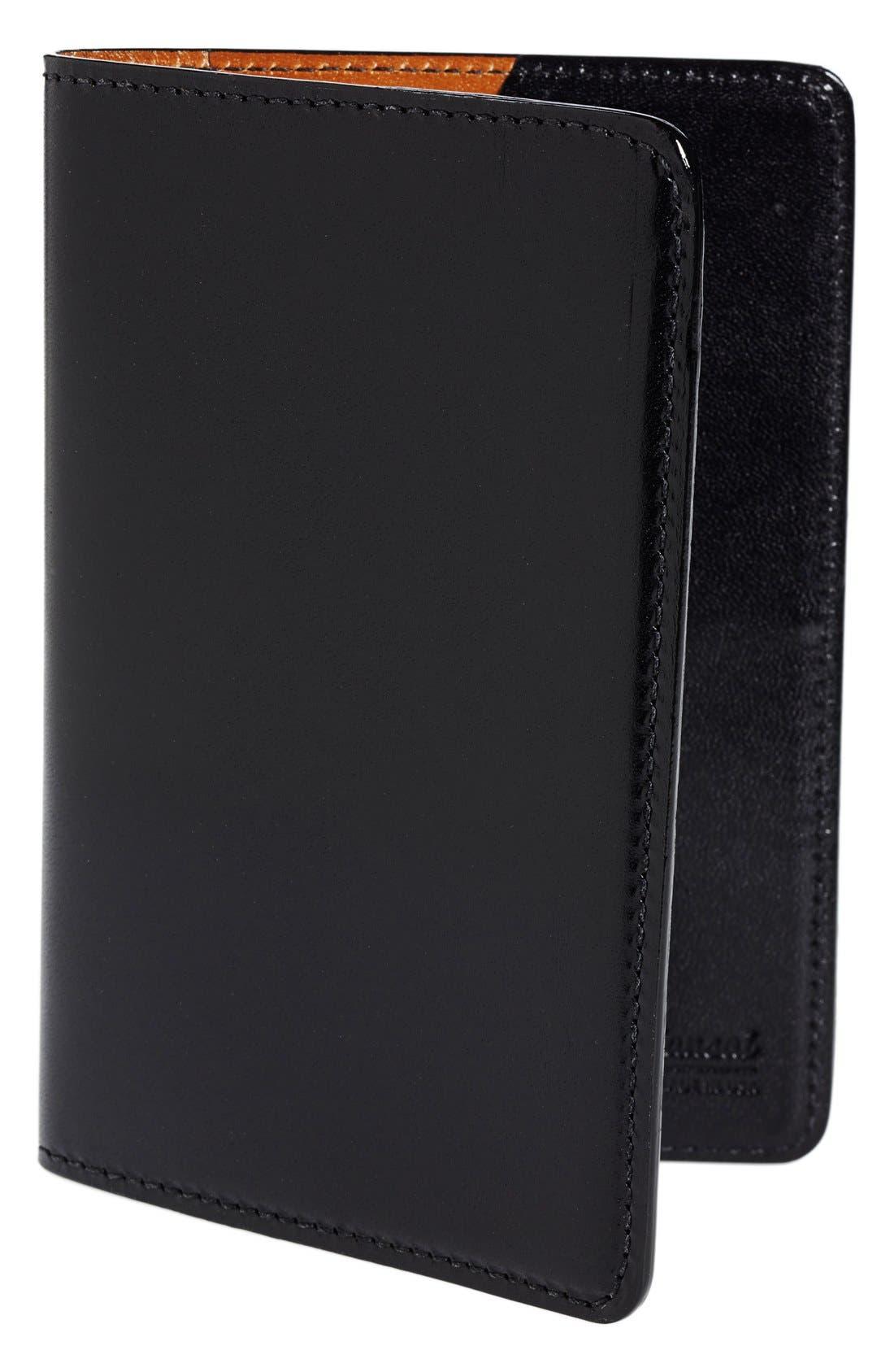 Leather Passport Wallet,                             Main thumbnail 1, color,                             005