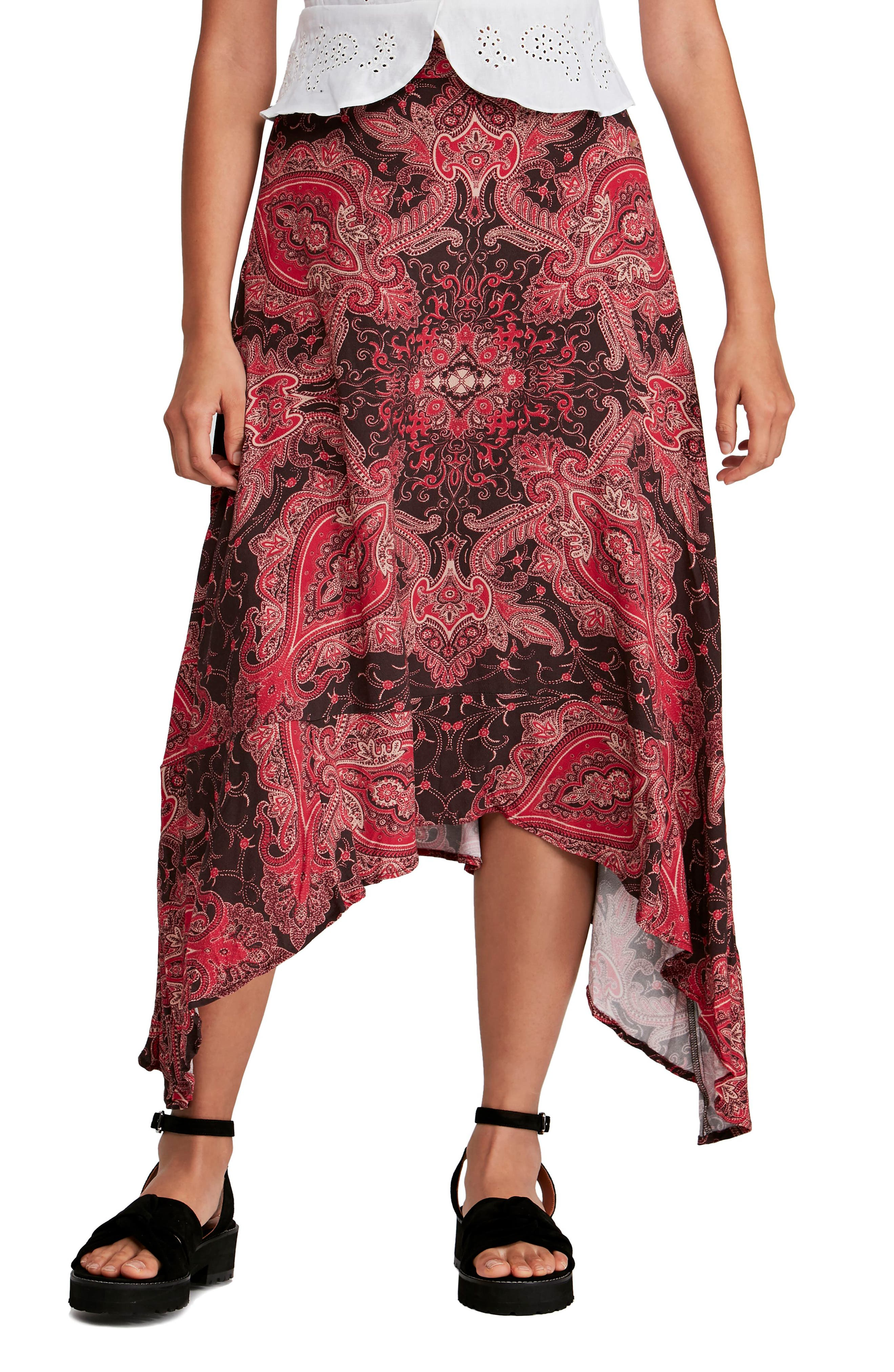 Free People At The Shore Skirt, Red