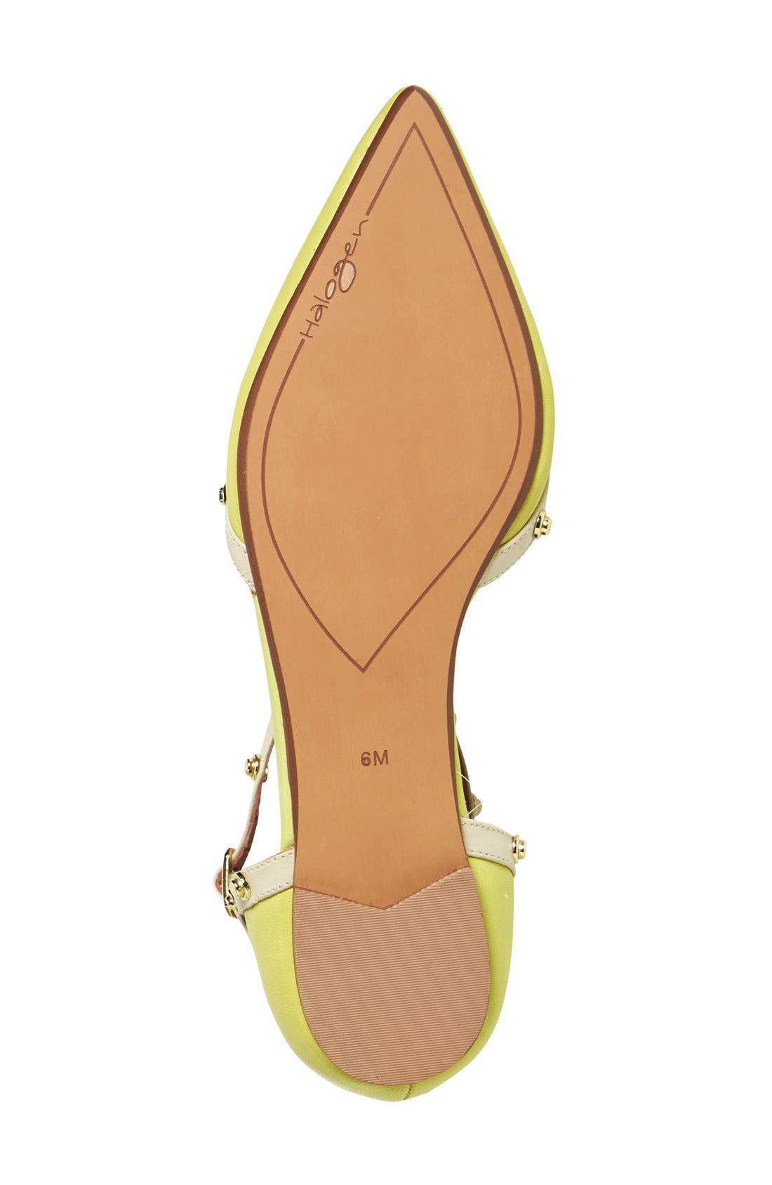 'Olson' Pointy Toe Studded T-Strap Flat,                             Alternate thumbnail 69, color,
