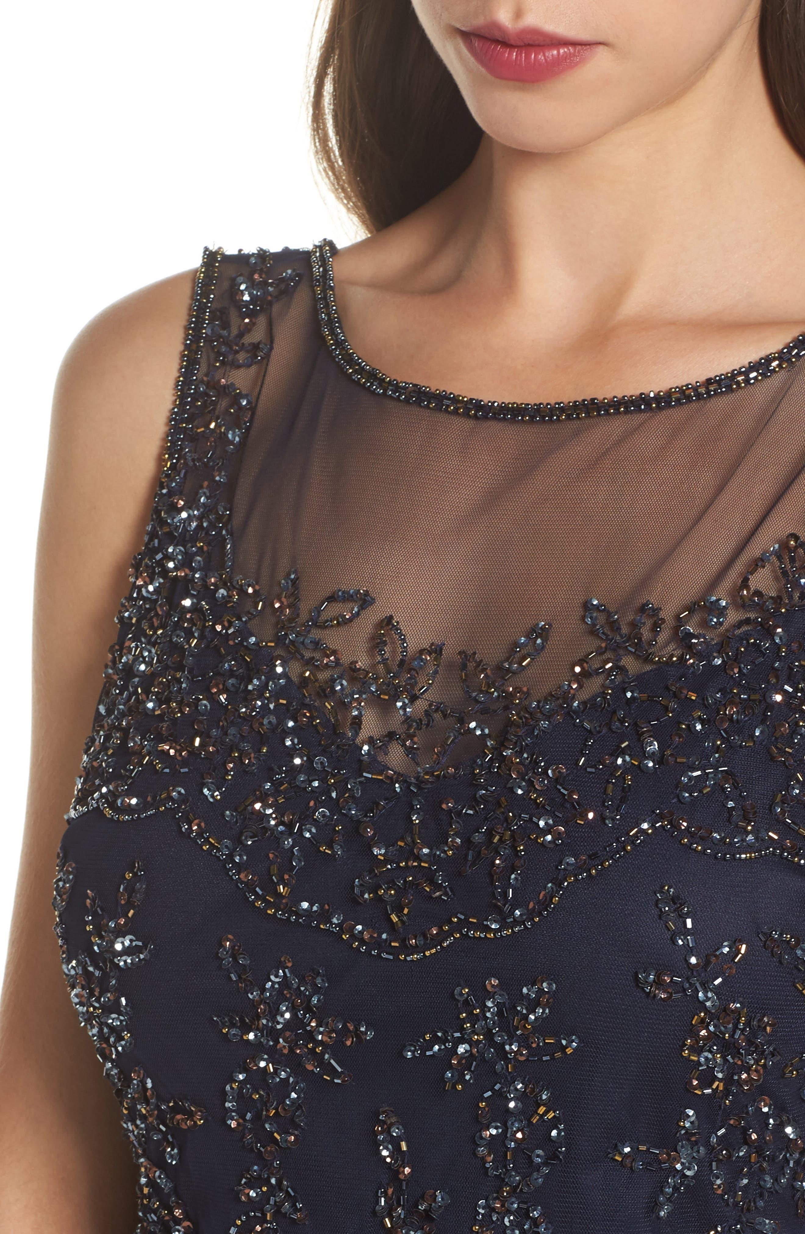 Embellished Dress,                             Alternate thumbnail 4, color,                             410