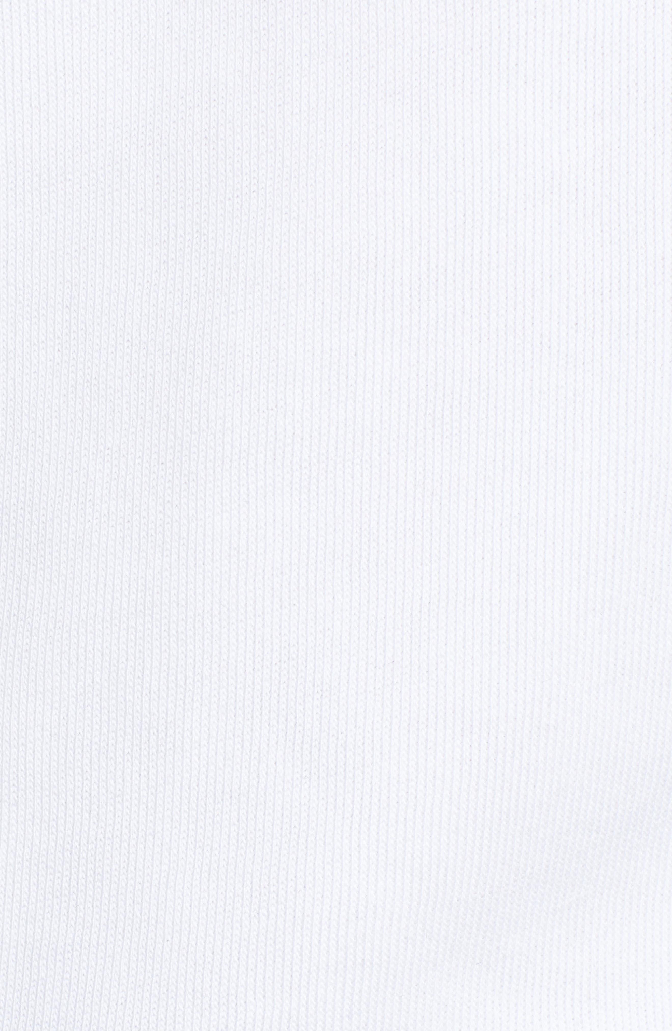 Fatale Fleece Sleeve Sweatshirt,                             Alternate thumbnail 5, color,                             CLEAN WHITE/ CLEAN BLACK