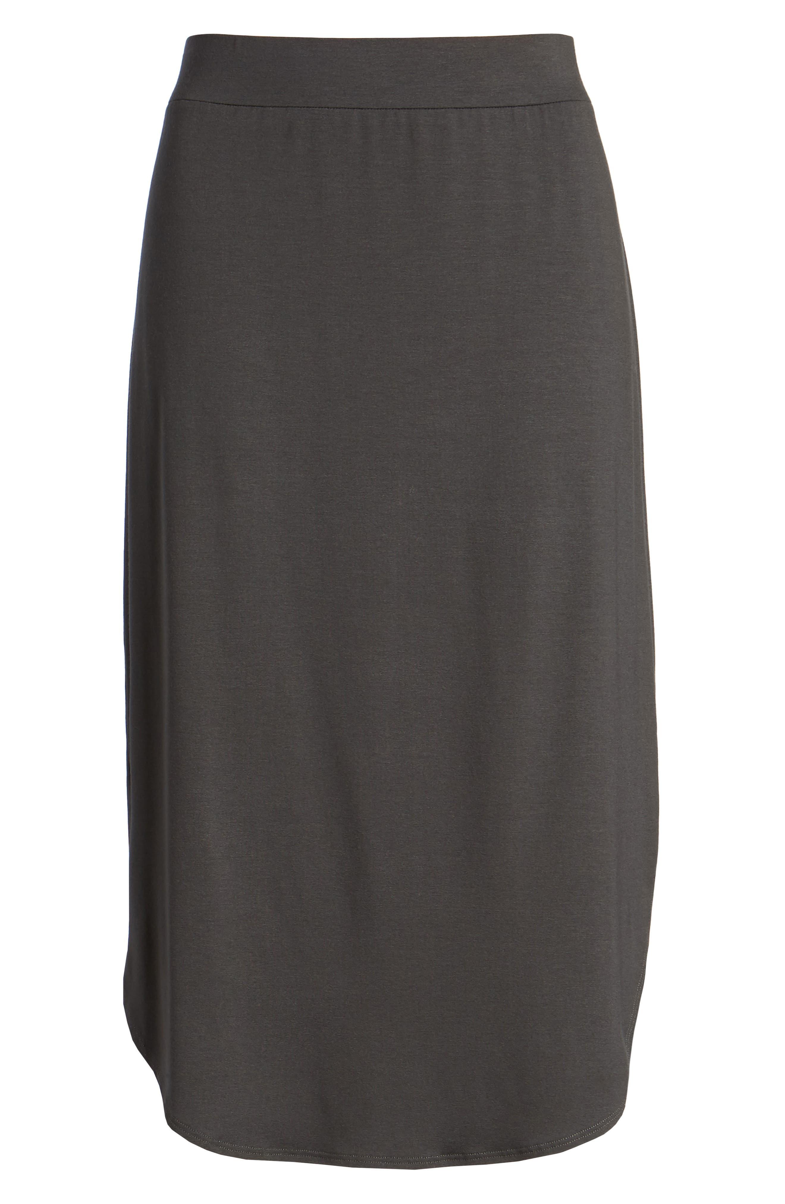 Jersey Shirttail Hem Skirt,                             Alternate thumbnail 6, color,                             025
