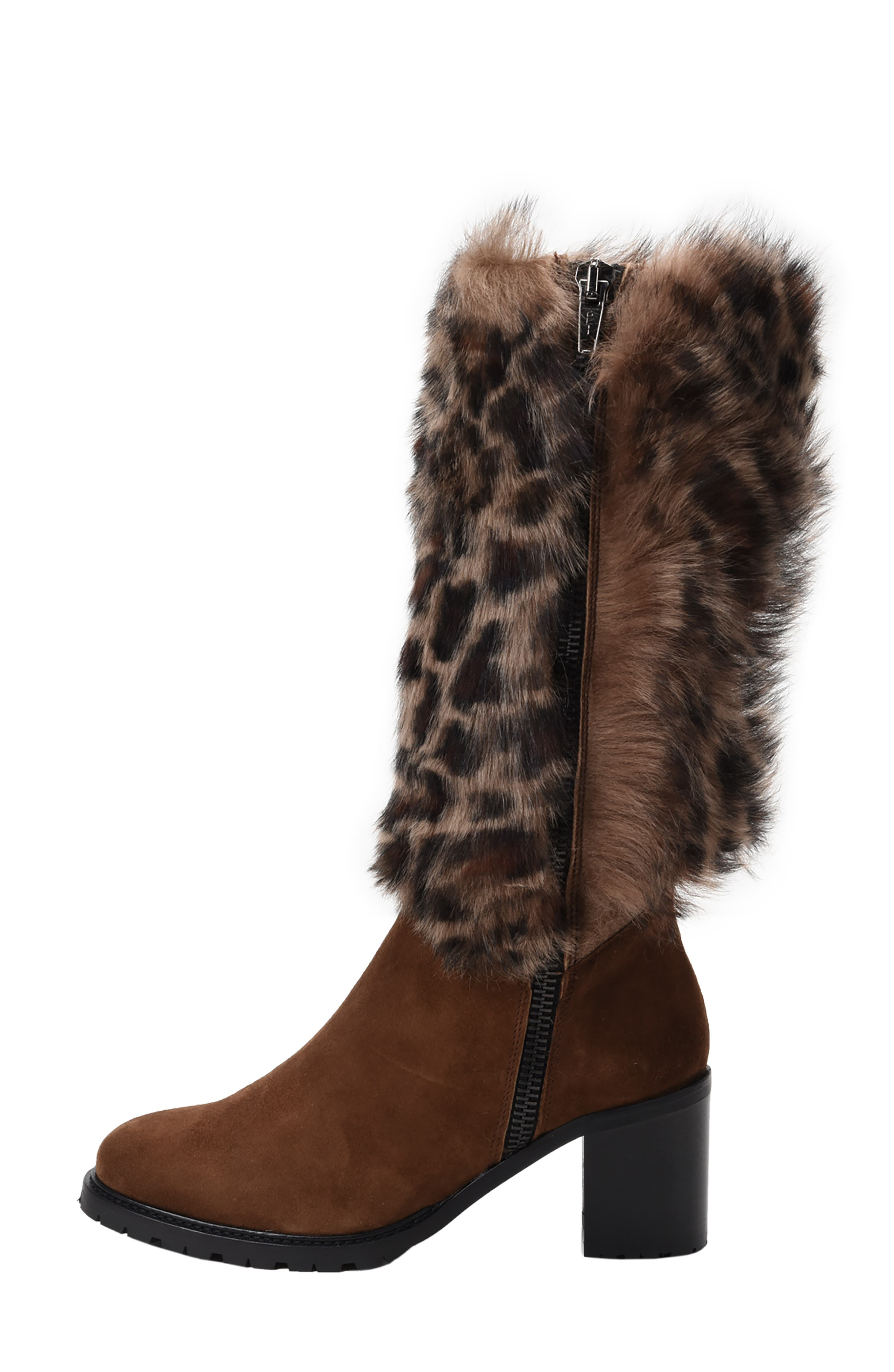 Weatherproof Genuine Shearling Boot,                             Alternate thumbnail 7, color,                             LEOPARD LEATHER