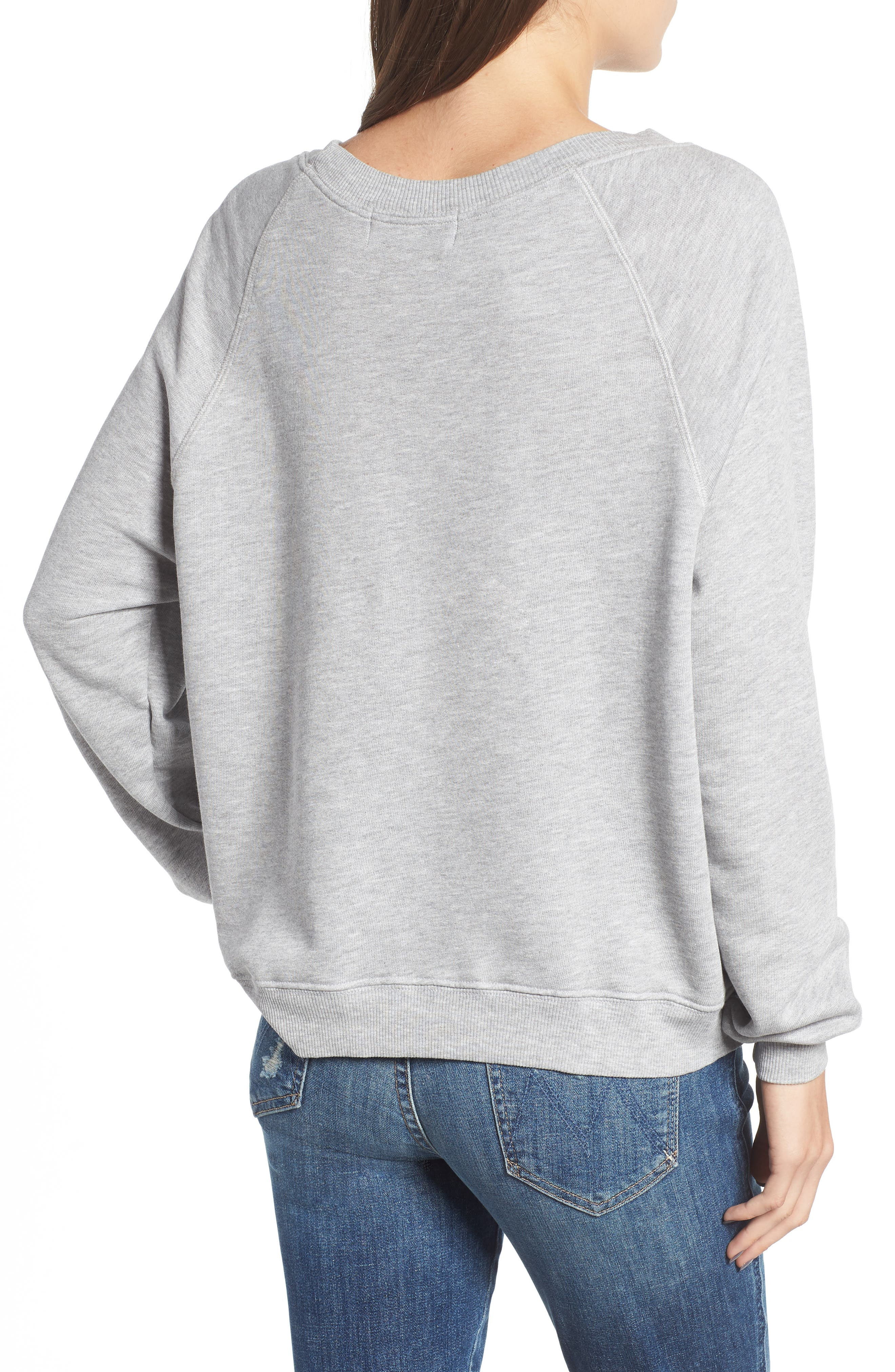 Austin Crest Sommers Sweatshirt,                             Alternate thumbnail 2, color,                             HEATHER