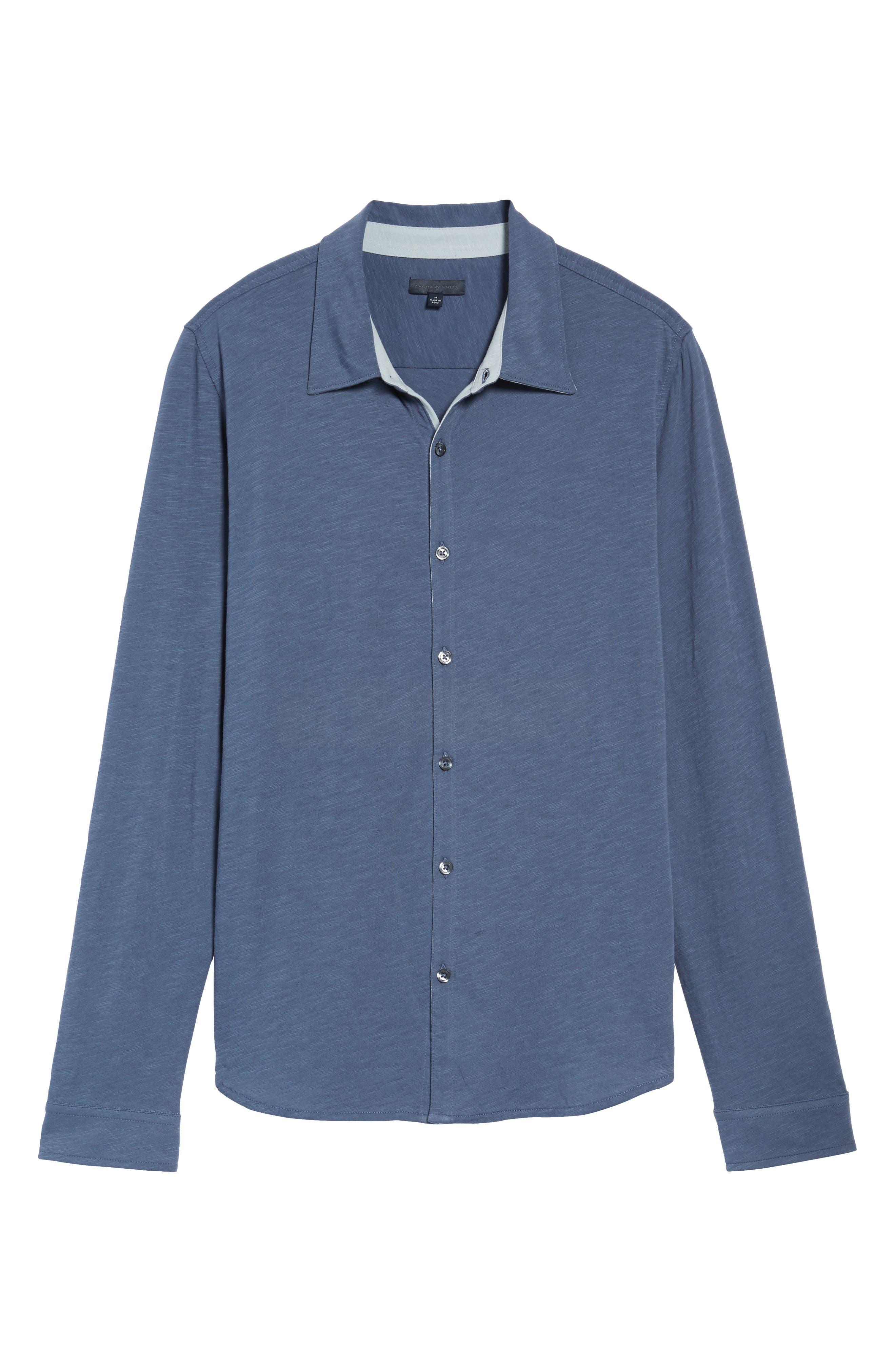 Camara Trim Fit Knit Sport Shirt,                             Alternate thumbnail 16, color,