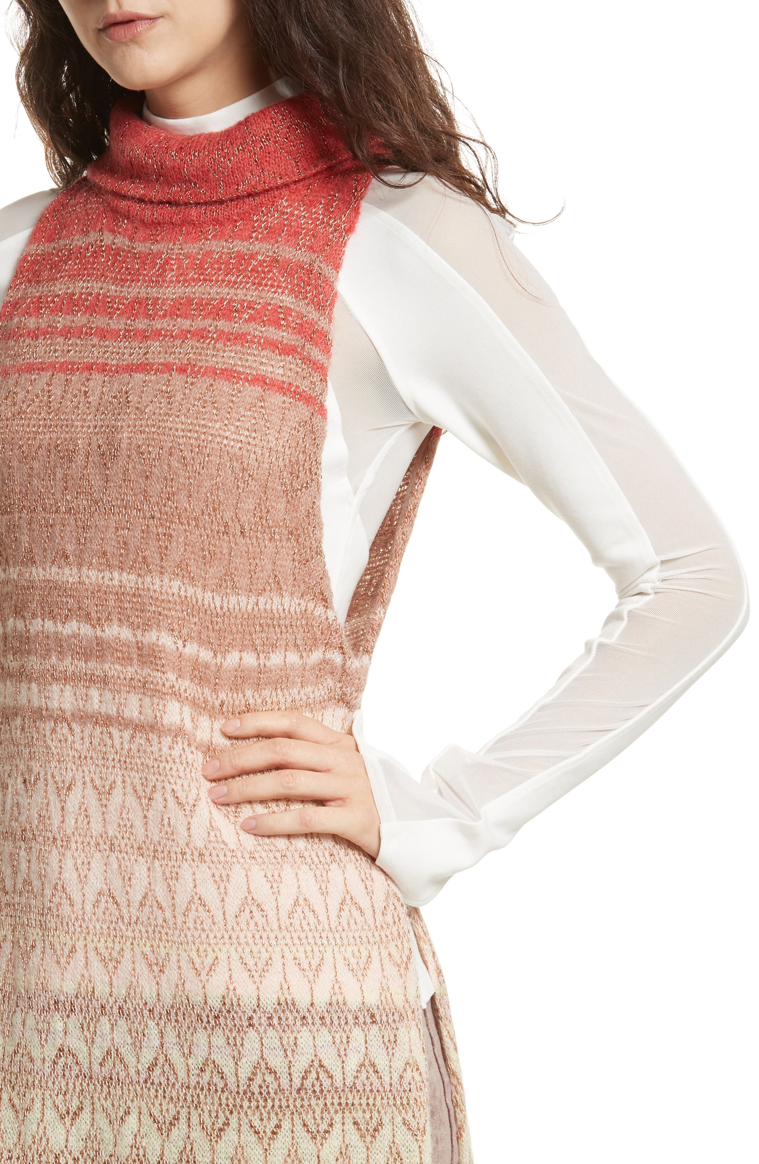 Rainbow Tunic Dress,                             Alternate thumbnail 4, color,                             907