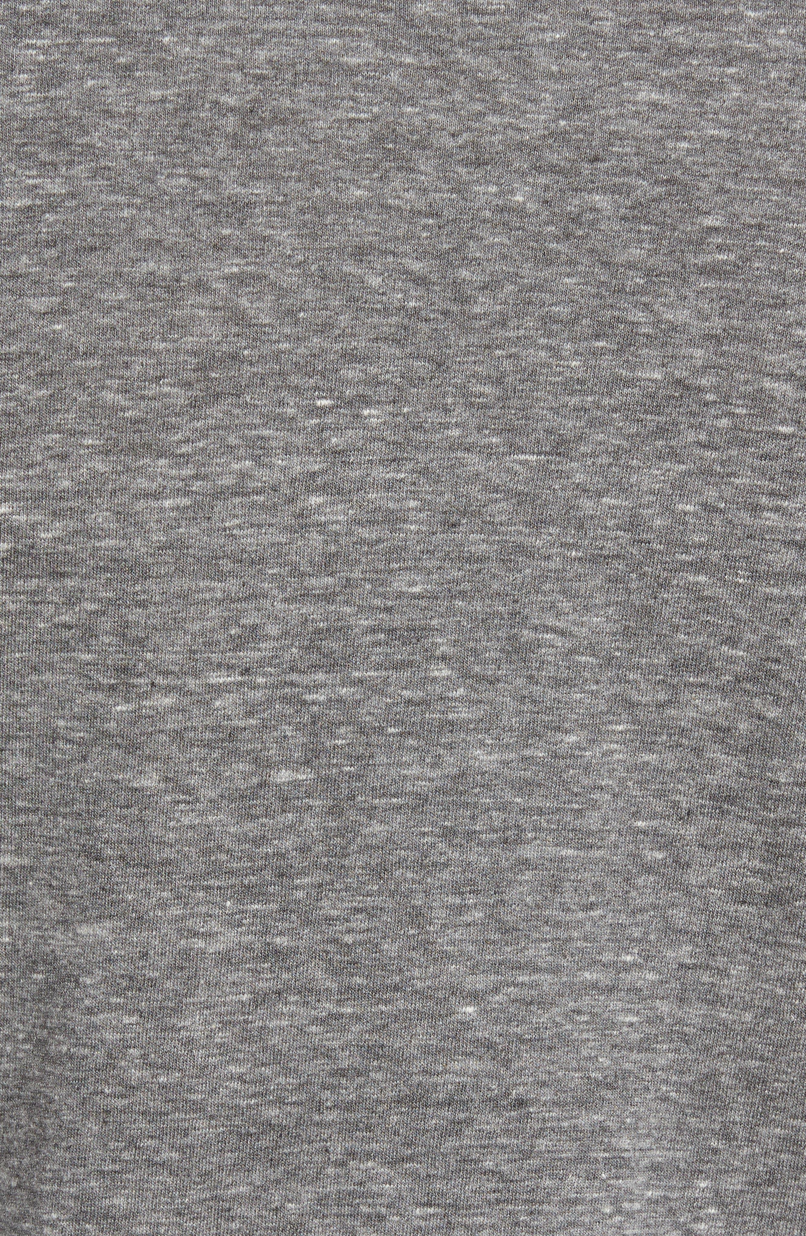 Supima Cotton Blend Crewneck T-Shirt,                             Alternate thumbnail 5, color,                             HEATHER GREY