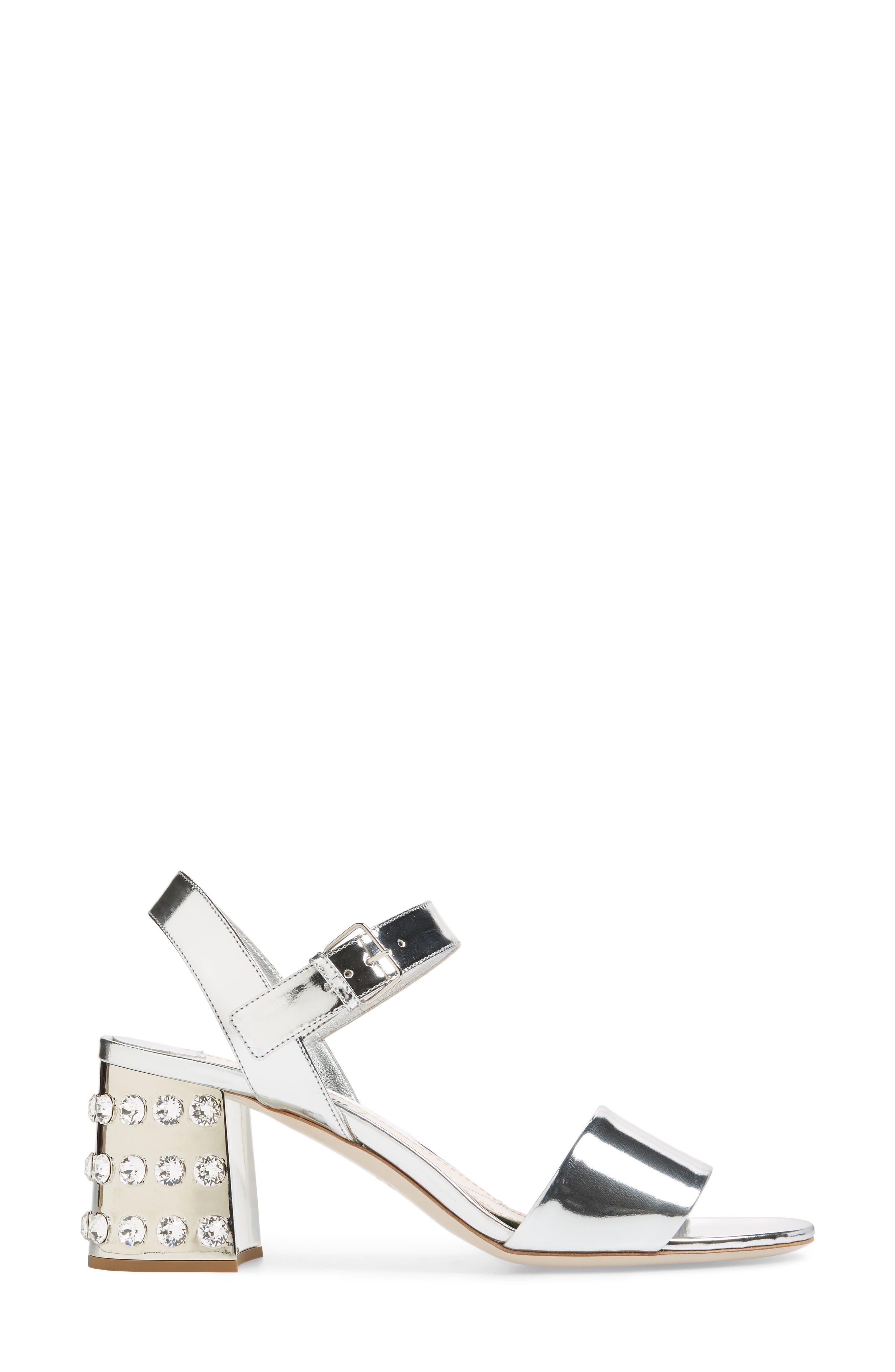 Crystal Embellished Block Heel Sandal,                             Alternate thumbnail 6, color,