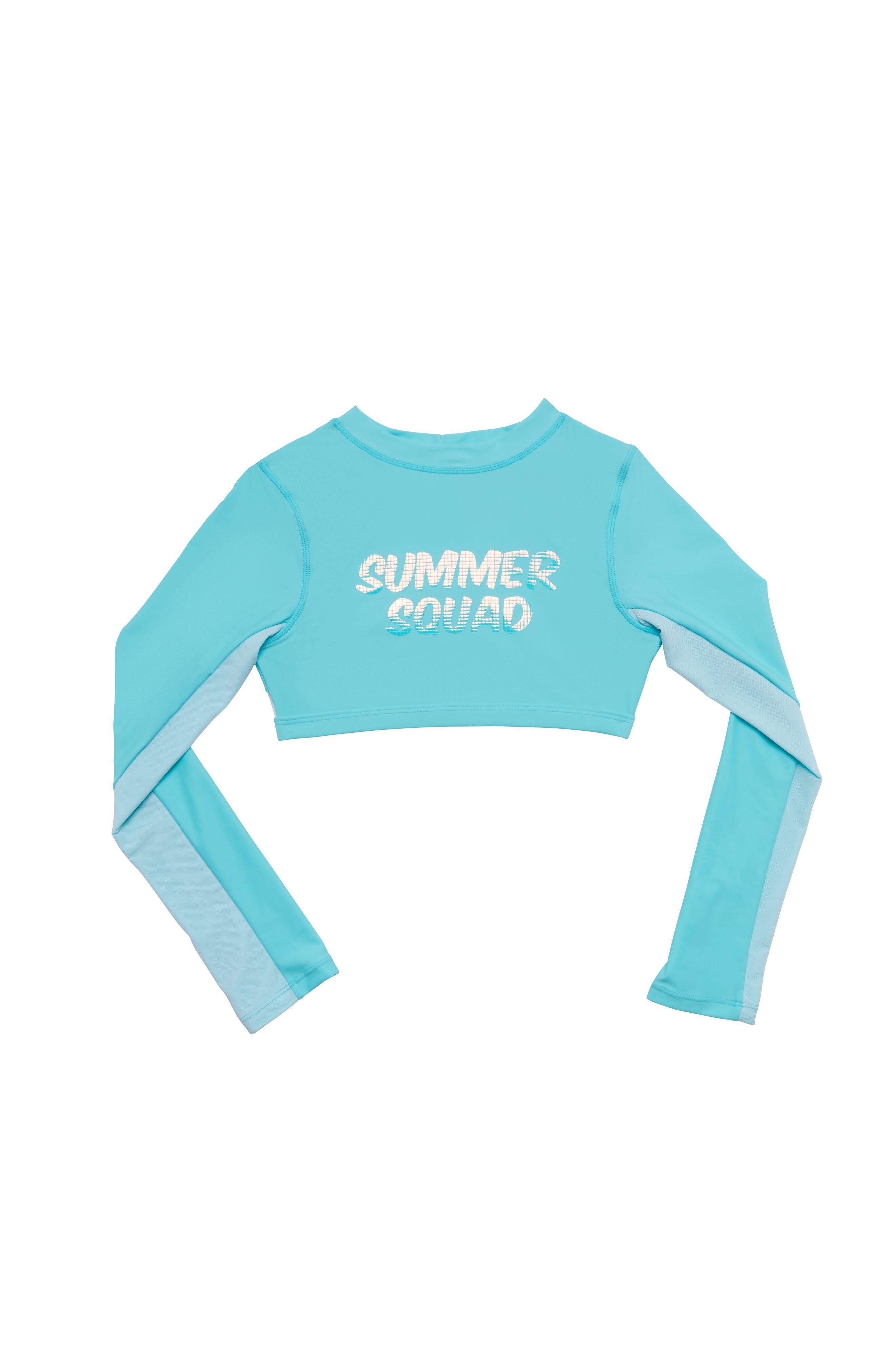 Rashguard Mesh Swim Top, Main, color, BLUE