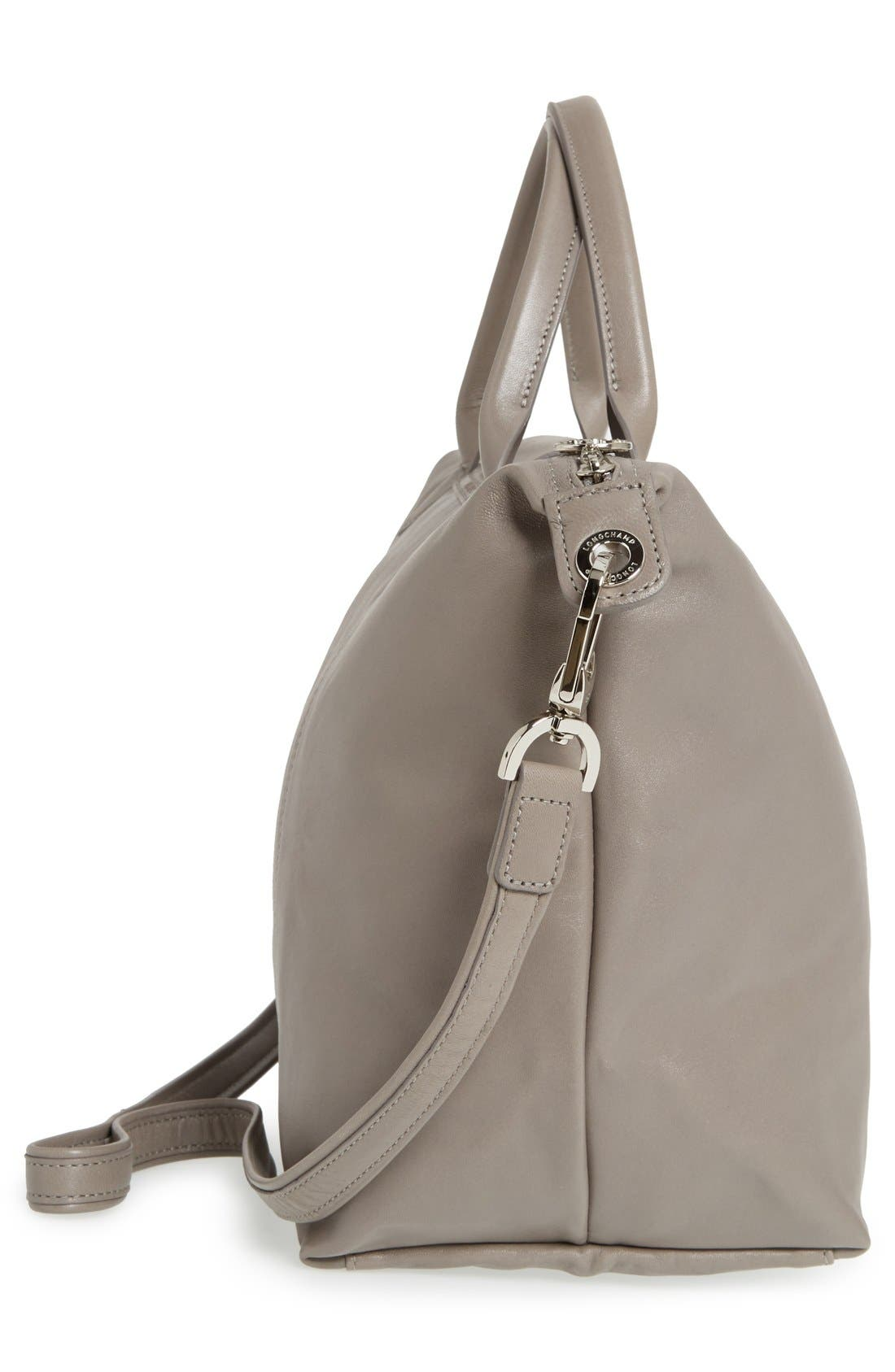 Medium 'Le Pliage Cuir' Leather Top Handle Tote,                             Alternate thumbnail 92, color,